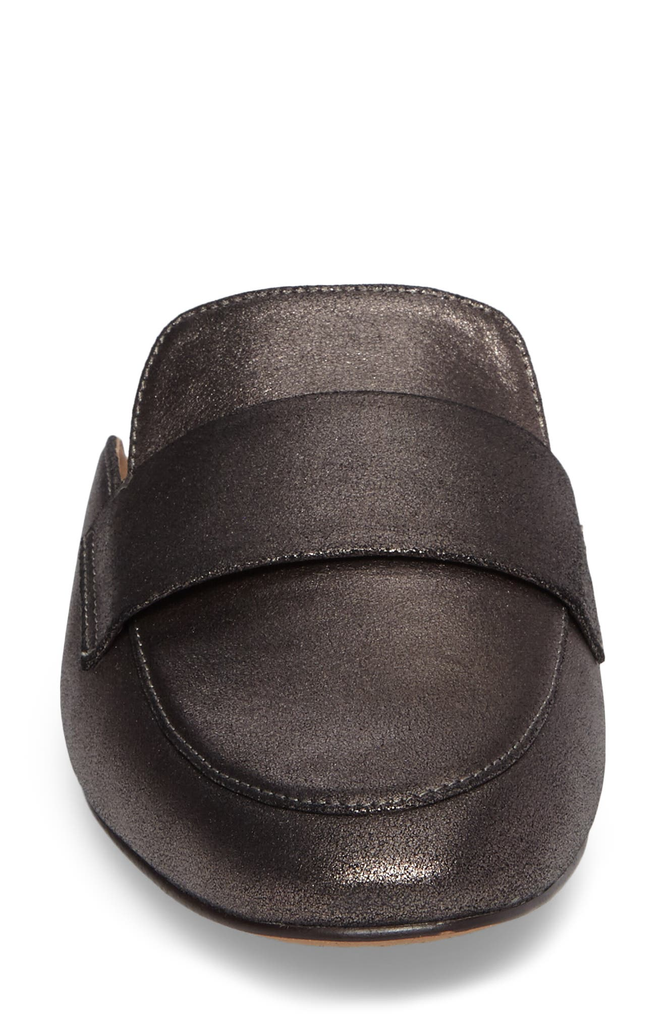Annie Loafer Mule,                             Alternate thumbnail 4, color,                             PEWTER SUEDE