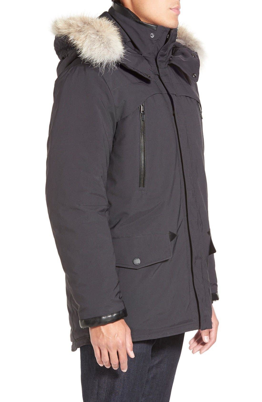 TUMI,                             'Fully Loaded' Parka with Genuine Coyote Fur Trim,                             Alternate thumbnail 3, color,                             021