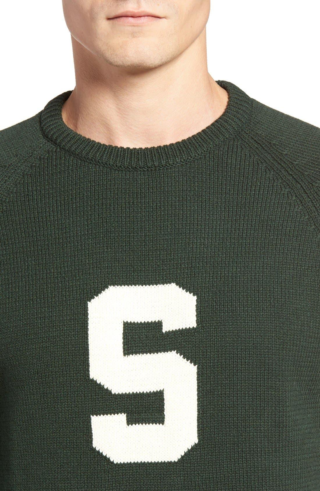 HILLFLINT,                             Michigan State Heritage Sweater,                             Alternate thumbnail 4, color,                             300