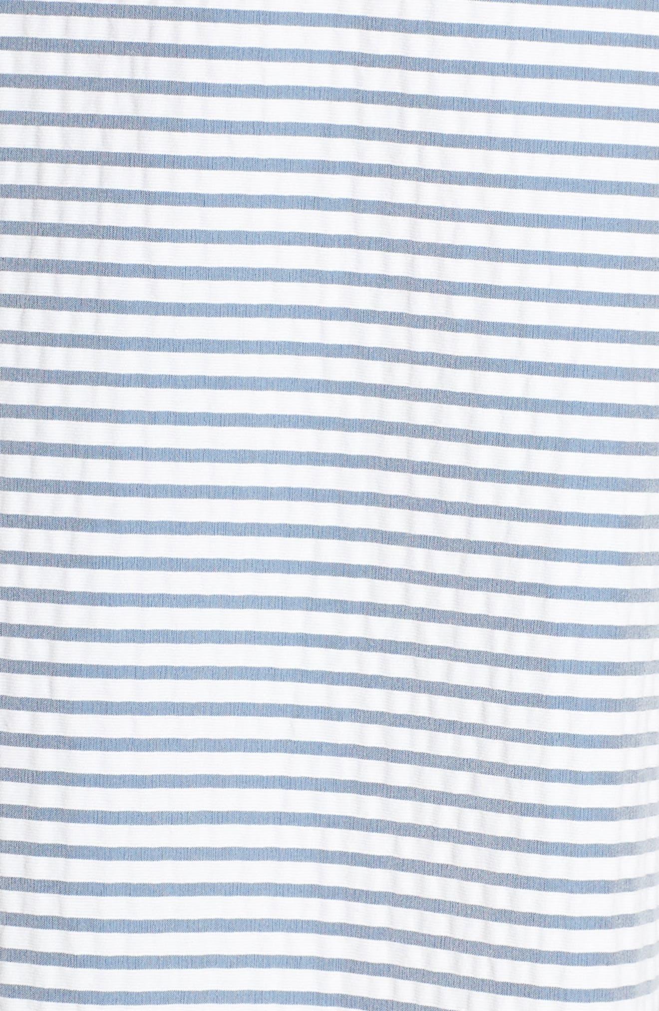 Halter Shirtdress,                             Alternate thumbnail 6, color,                             BLUE/ WHITE