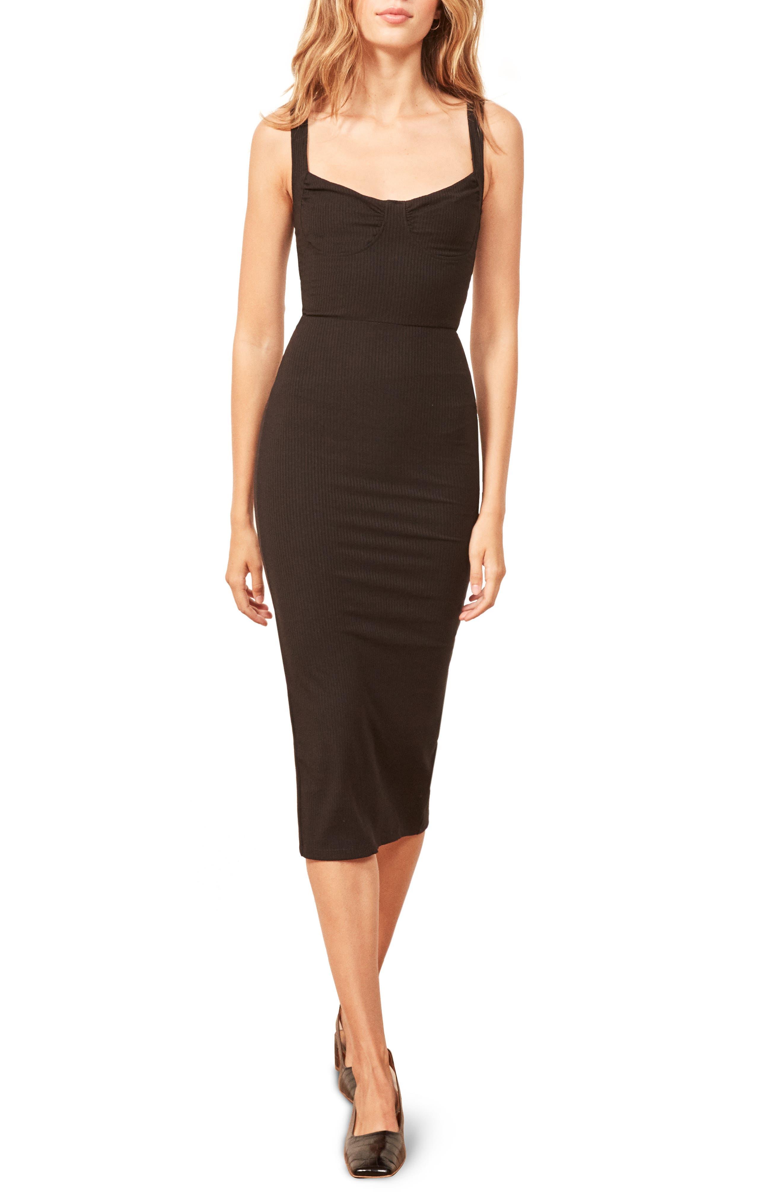 Adrian Sweetheart Neck Body-Con Dress,                             Main thumbnail 1, color,                             BLACK