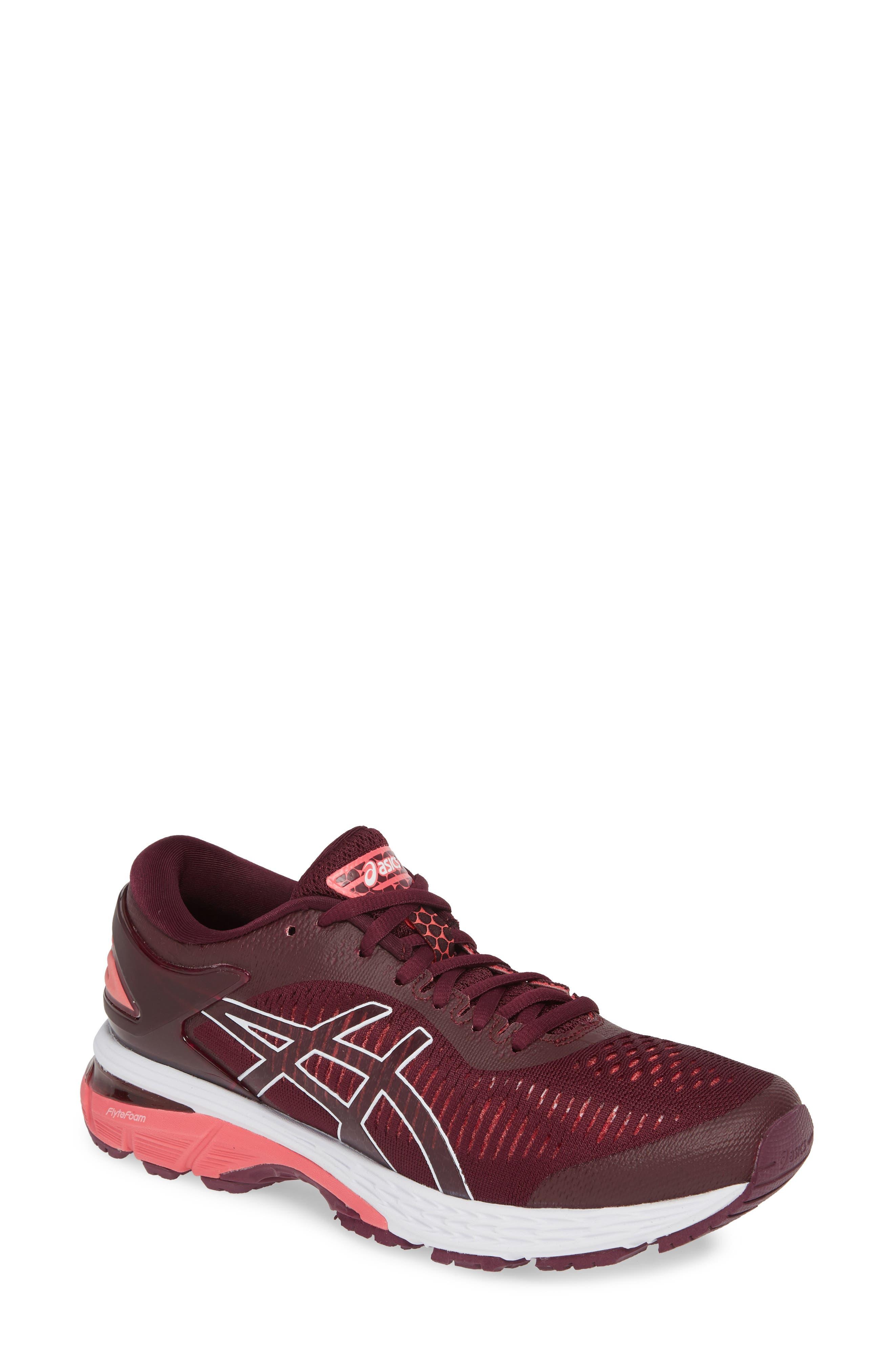 Asics Gel-Kayano 25 Running Shoe, Burgundy