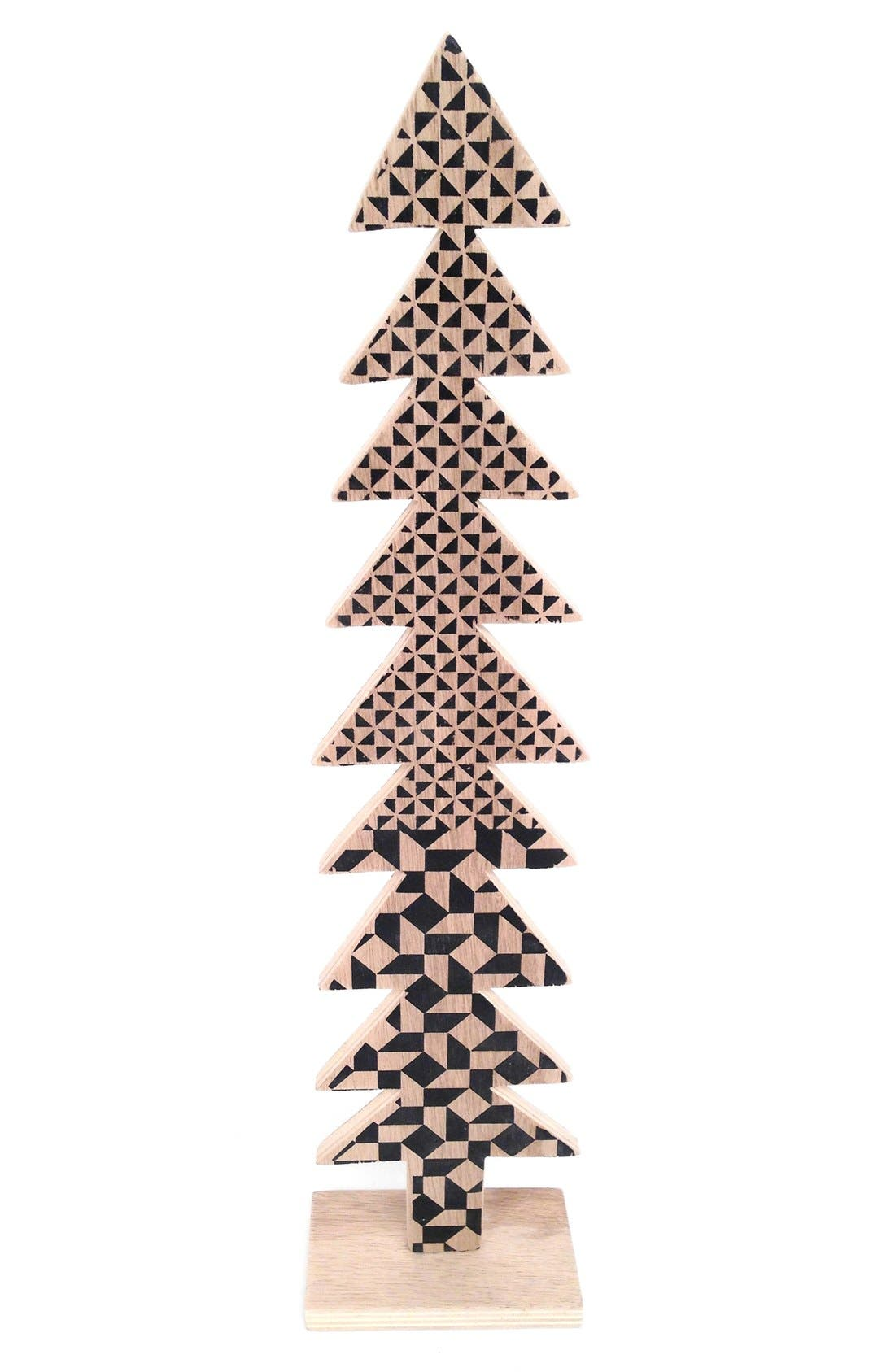 Wooden Christmas Tree Decoration,                             Alternate thumbnail 4, color,
