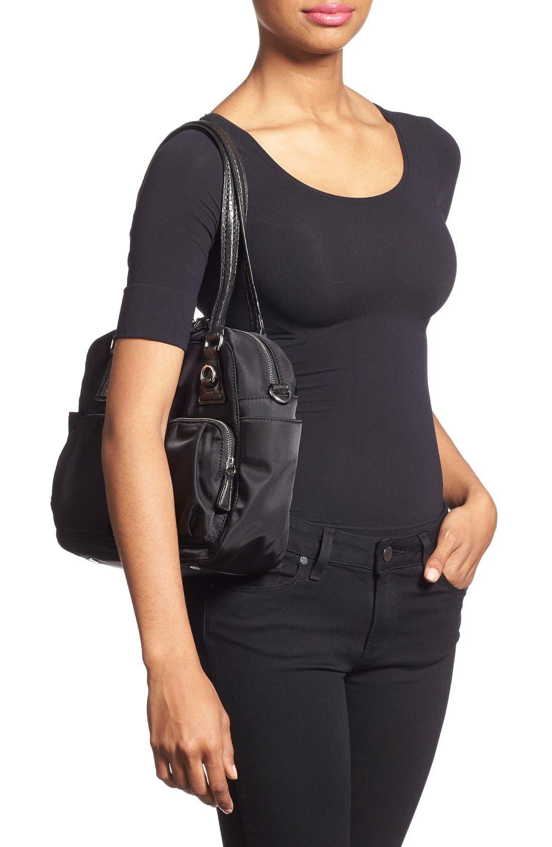 'Small Roxy' Bedford Nylon Shoulder Bag,                             Alternate thumbnail 2, color,                             001