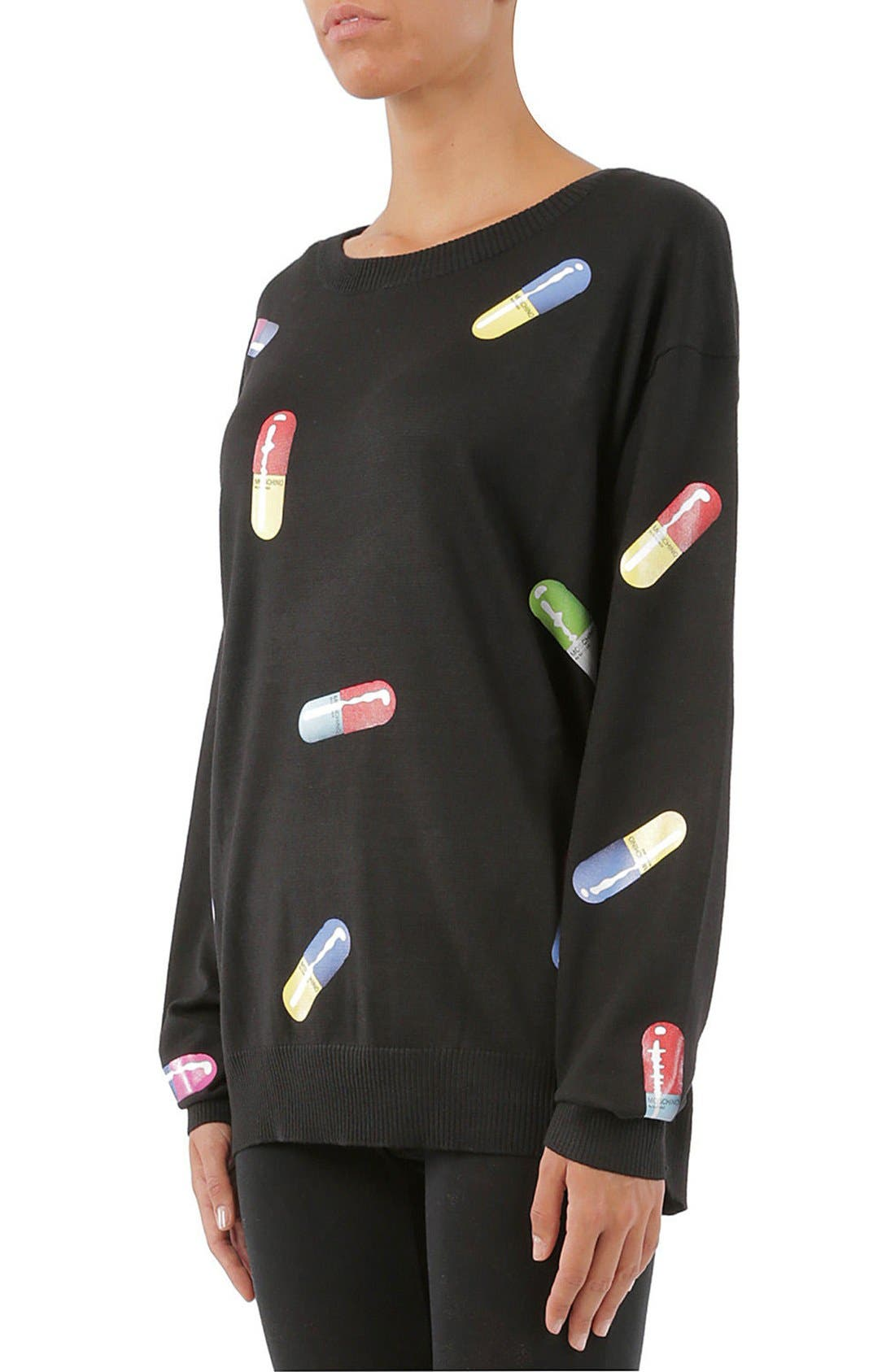 Pill Print Sweater,                             Alternate thumbnail 4, color,                             015