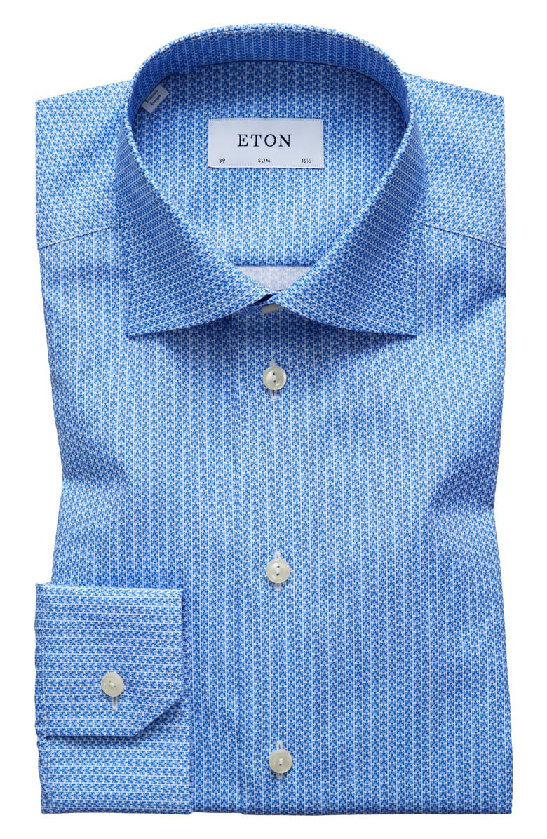 cebc9dc881e3fa Eton Slim Fit Micro Tiger Print Dress Shirt Nordstrom