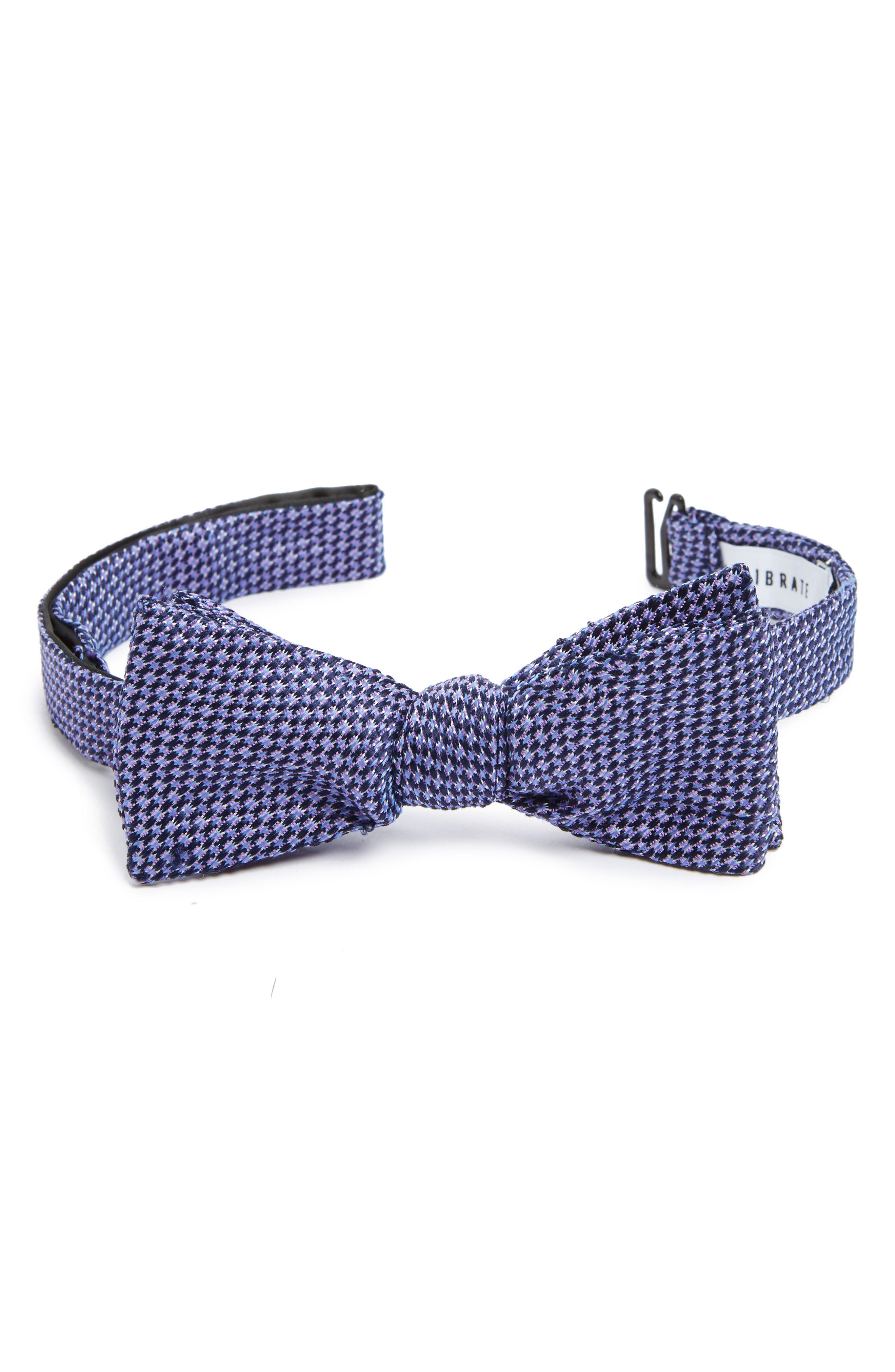 Textured Silk Bow Tie,                             Alternate thumbnail 3, color,