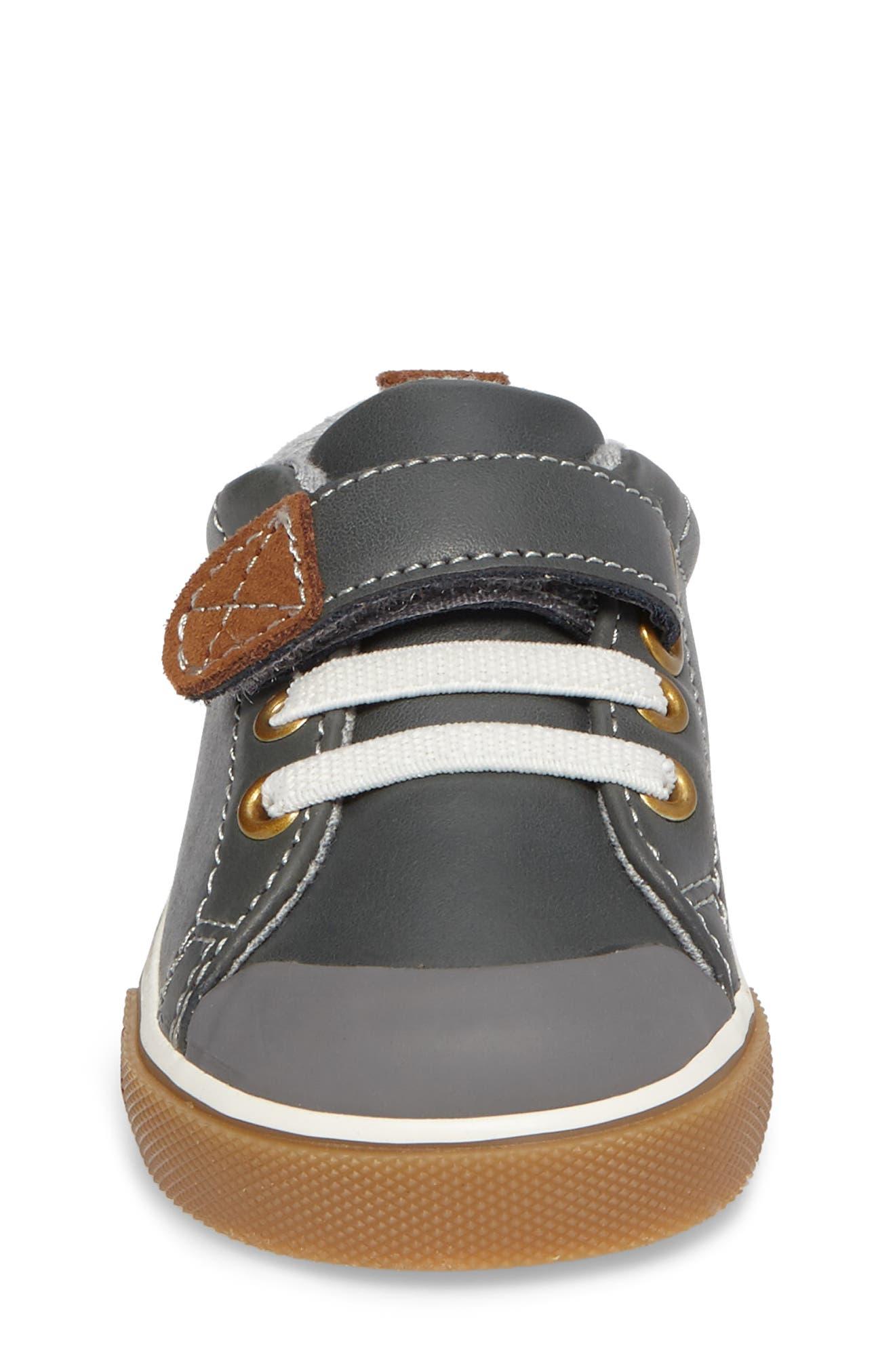 Stevie II Sneaker,                             Alternate thumbnail 4, color,                             GREY LEATHER