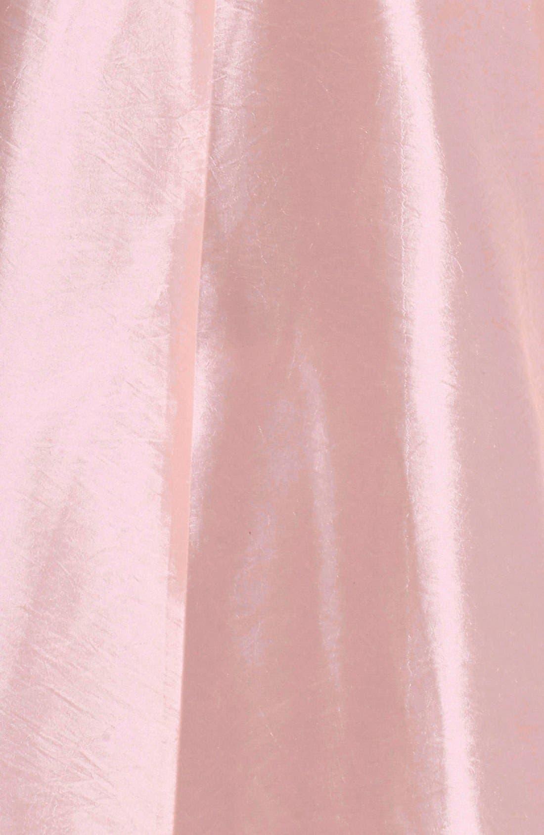 Belted Lace & Taffeta Point Collar Midi Dress,                             Alternate thumbnail 6, color,                             684