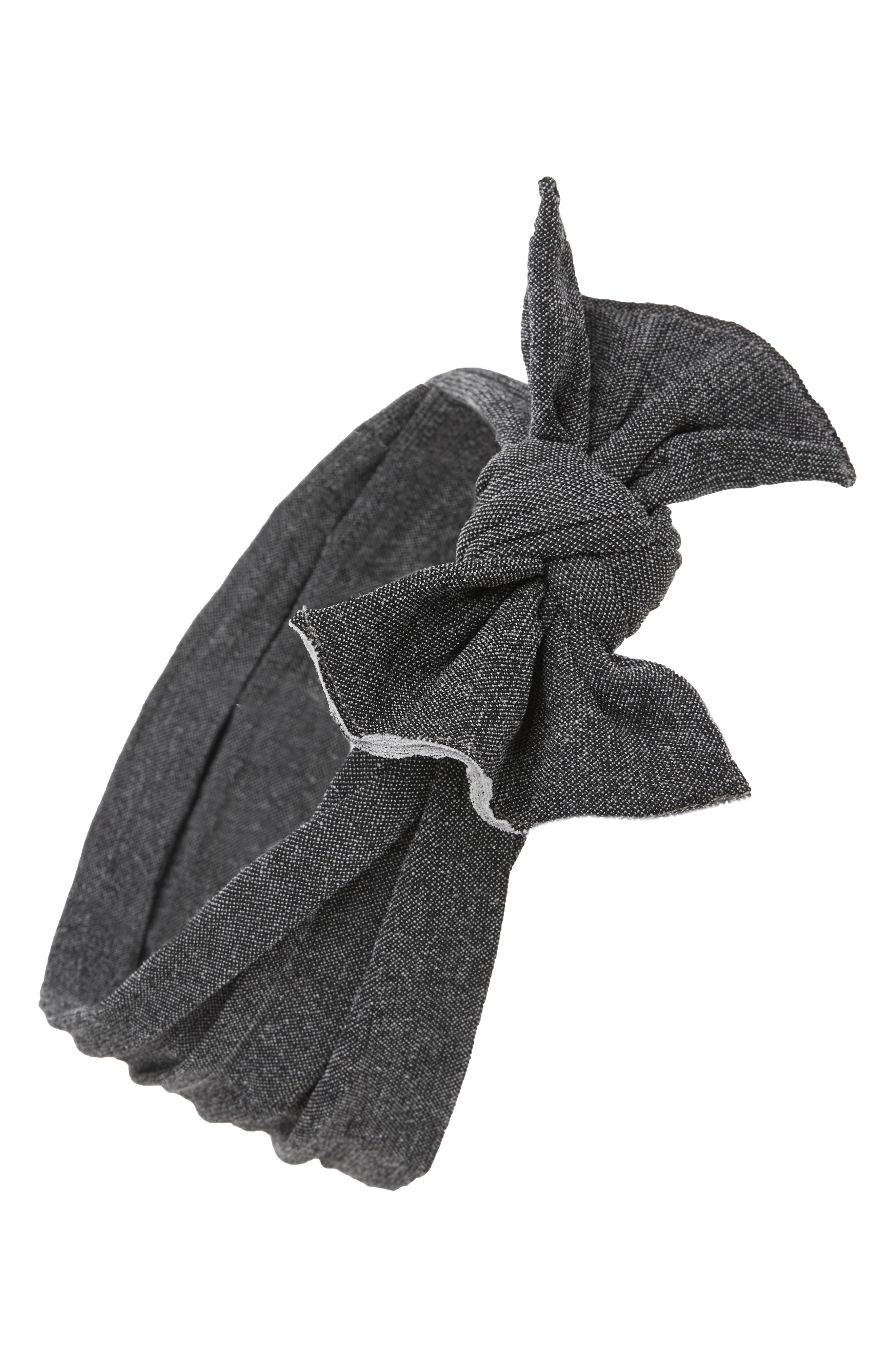 Print Bow Headband,                         Main,                         color, STONE CHARCOAAL