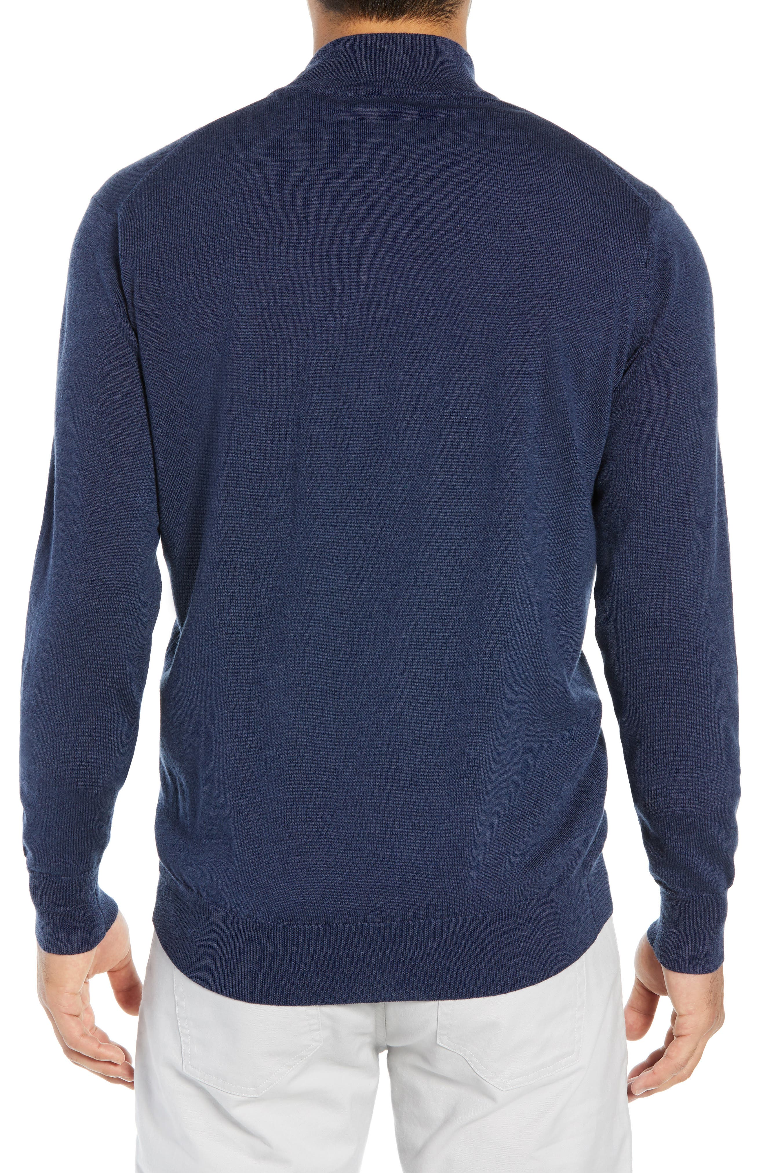 PETER MILLAR,                             Regular Fit Half Zip Wool & Linen Pullover,                             Alternate thumbnail 2, color,                             410