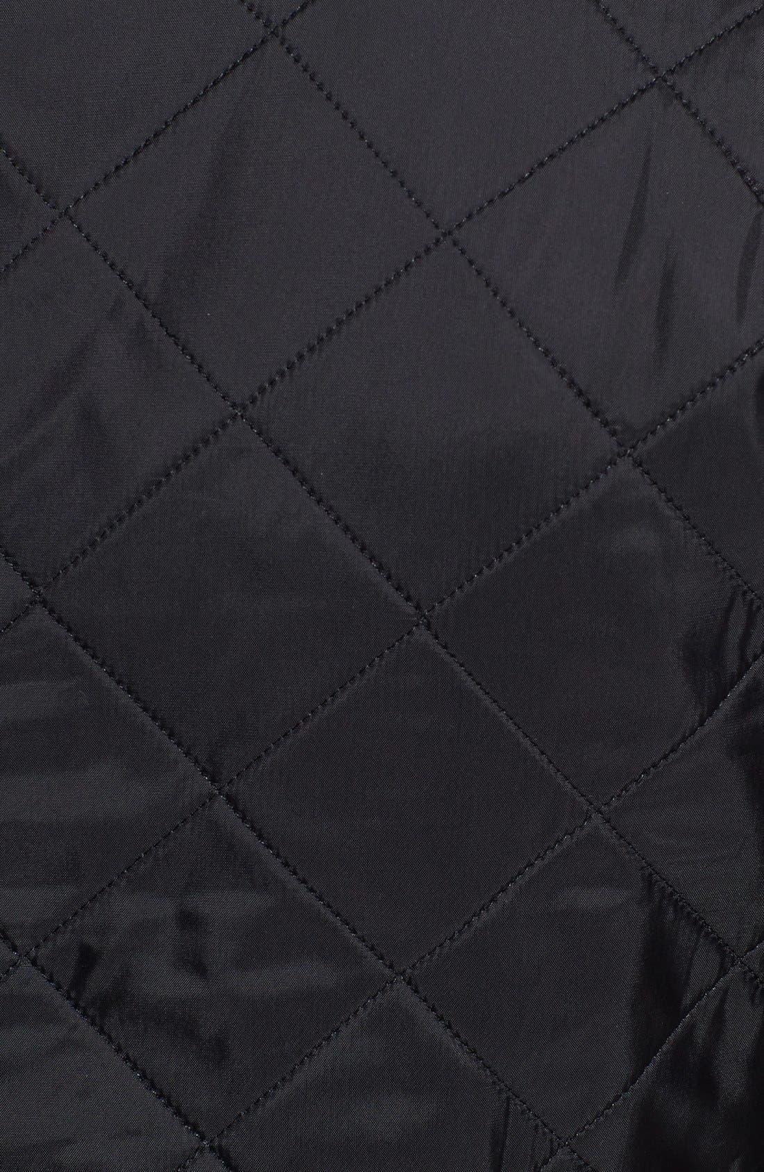 'Ariel' Regular Fit Polarquilt Coat,                             Alternate thumbnail 4, color,                             001