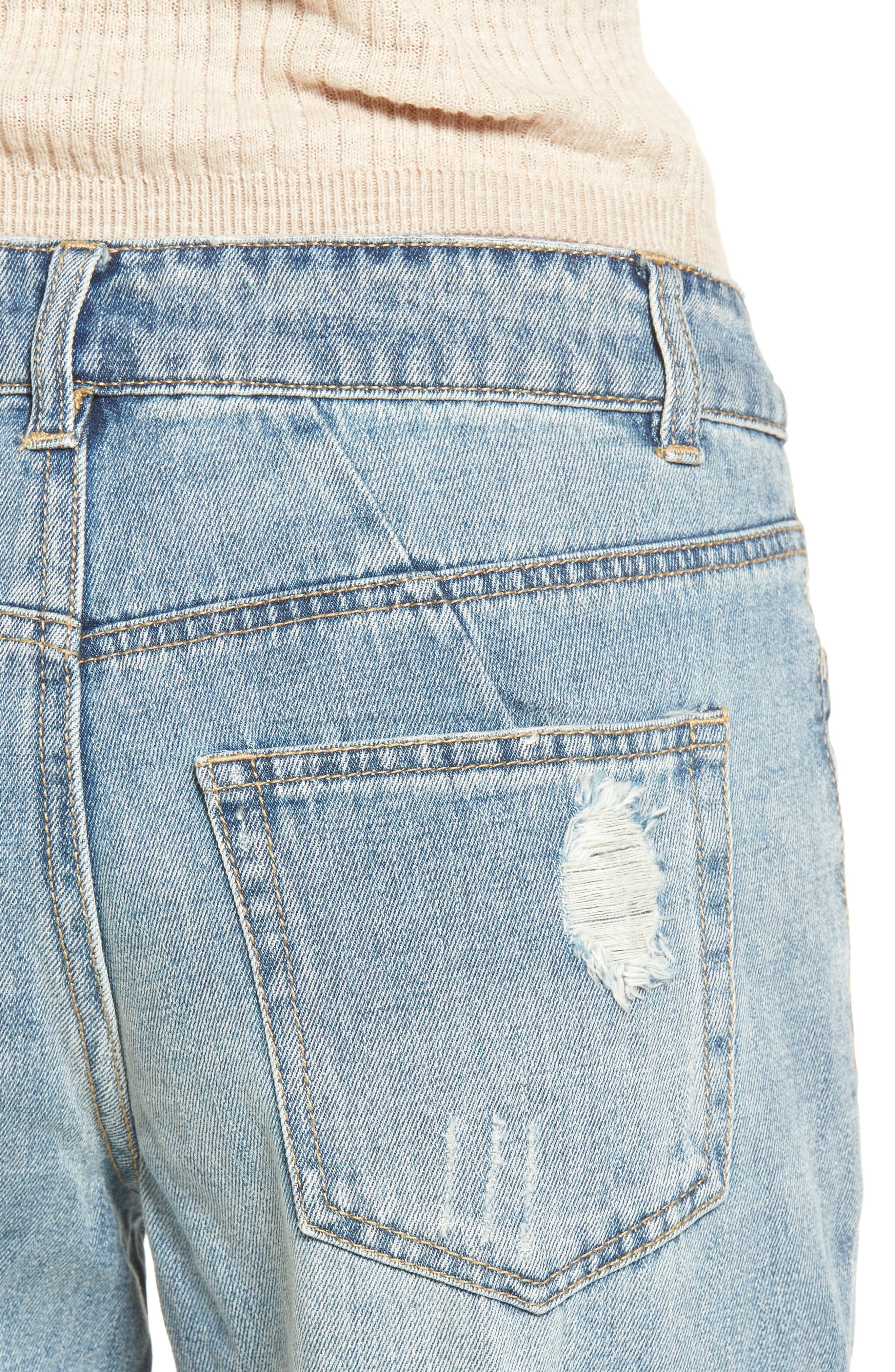 Cyrus High Waist Ankle Jeans,                             Alternate thumbnail 4, color,                             SINNER WASH