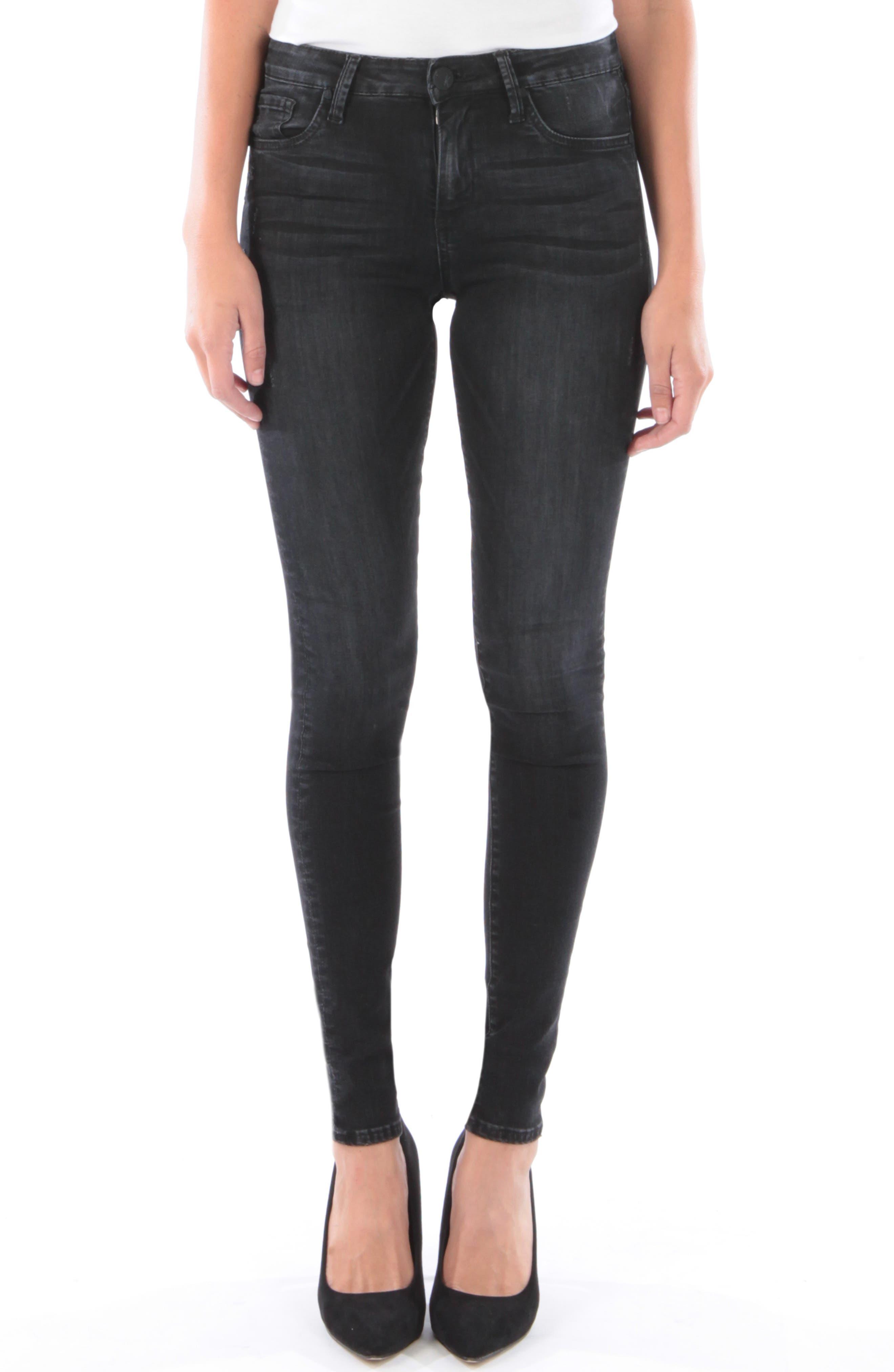 Mia High Waist Skinny Jeans,                             Main thumbnail 1, color,                             007