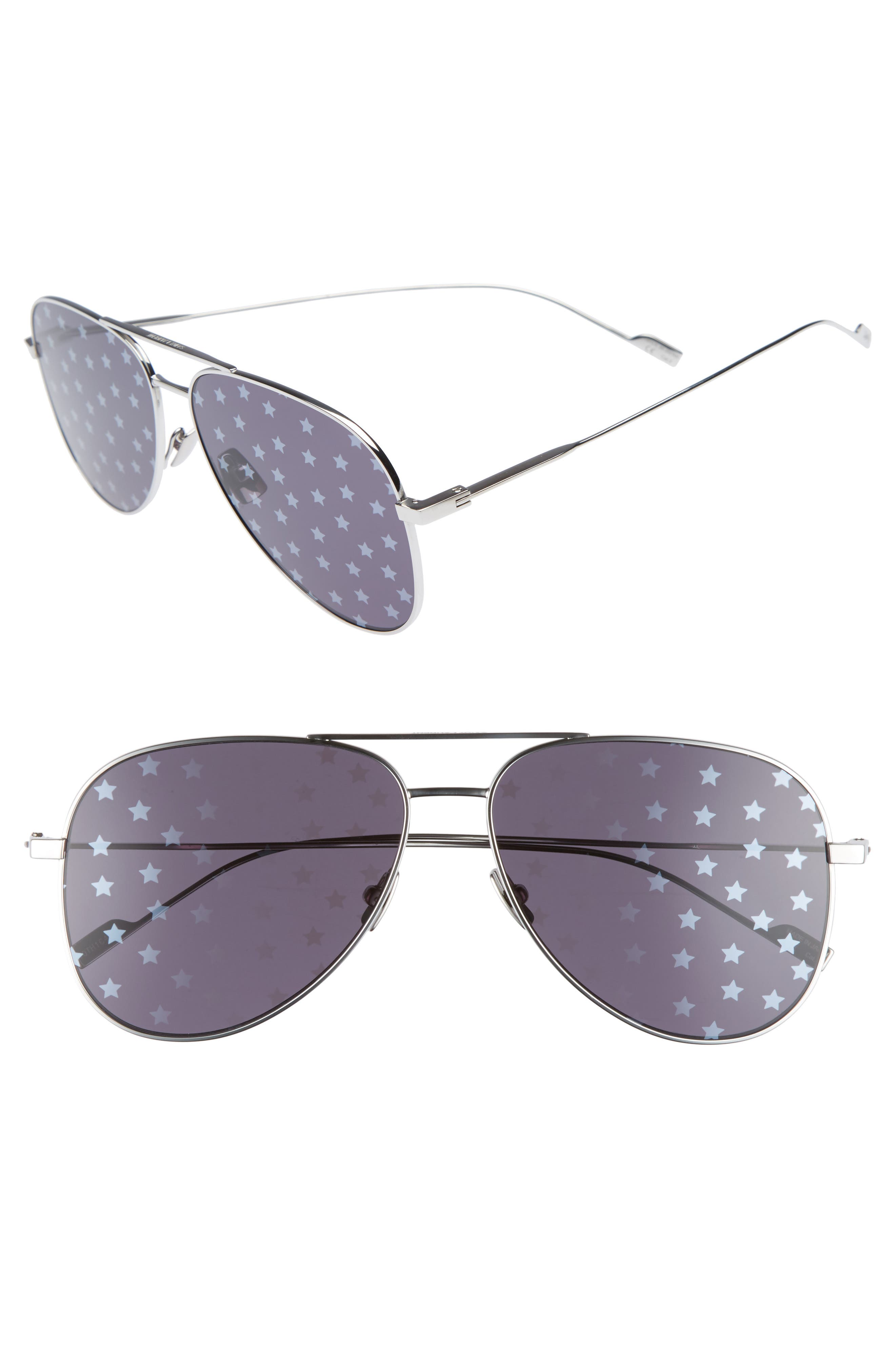 SL193 59mm Aviator Sunglasses,                         Main,                         color,