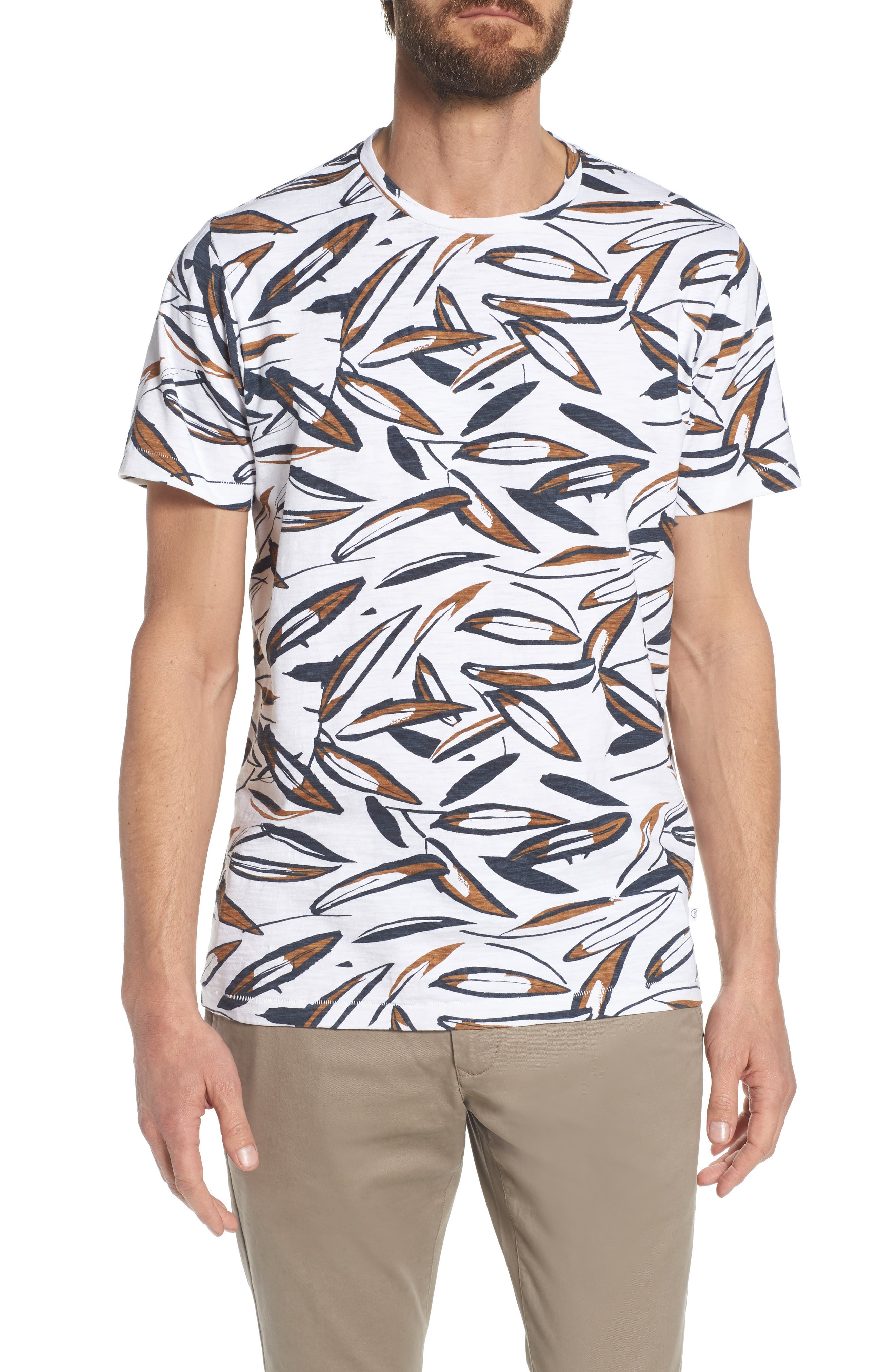 Leafy Arbour Slim Fit Heavyweight T-Shirt,                         Main,                         color, 100