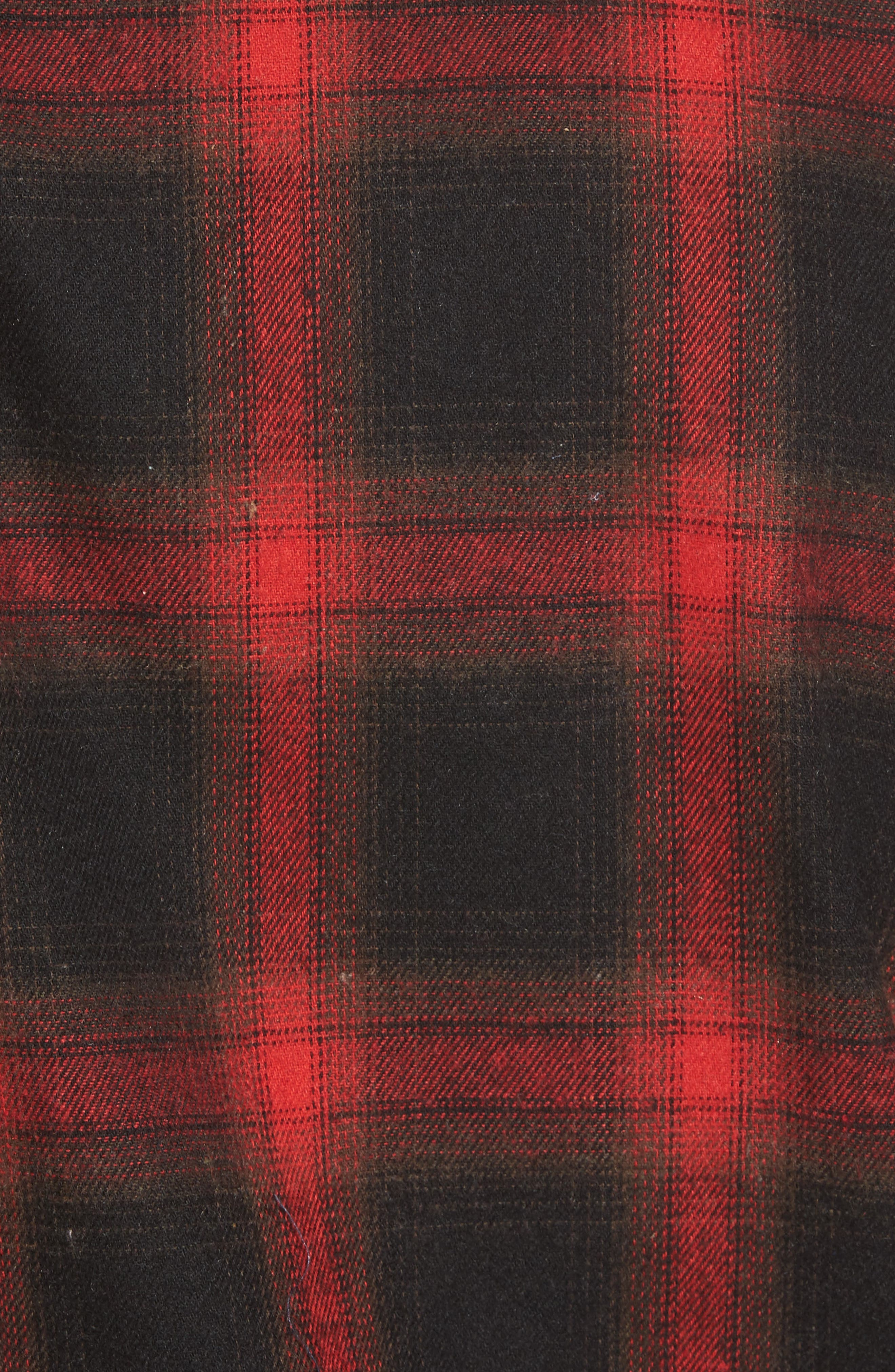Shredded Plaid Flannel Shirt,                             Alternate thumbnail 5, color,                             001