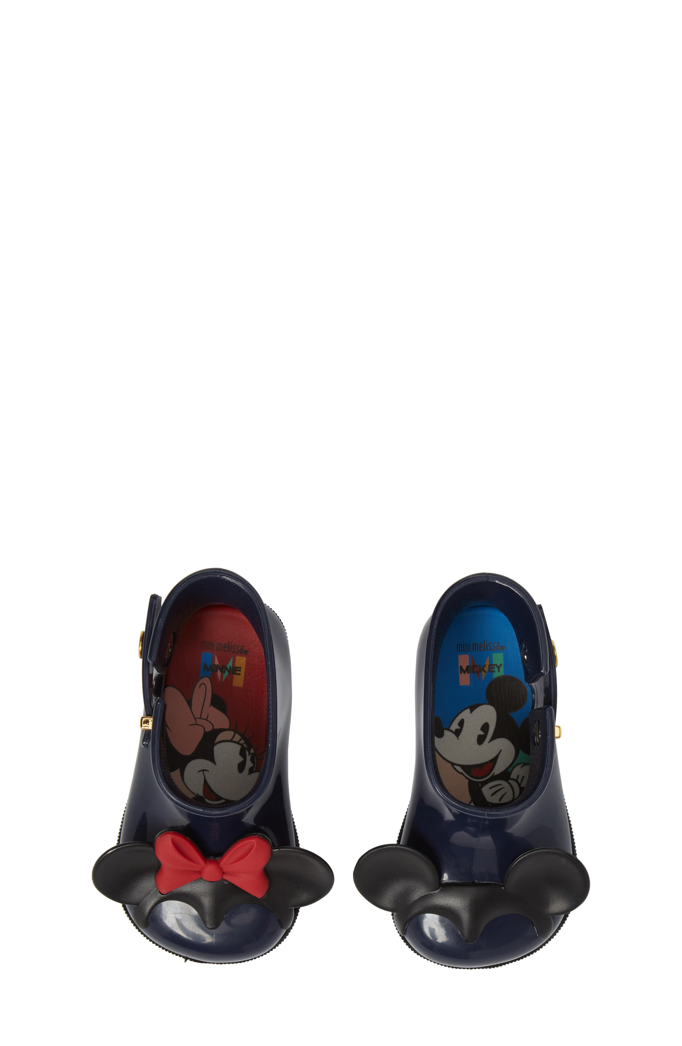 MELISSA,                             Mini Melissa Sugar Rain Disney Twins Waterproof Bootie,                             Alternate thumbnail 5, color,                             452