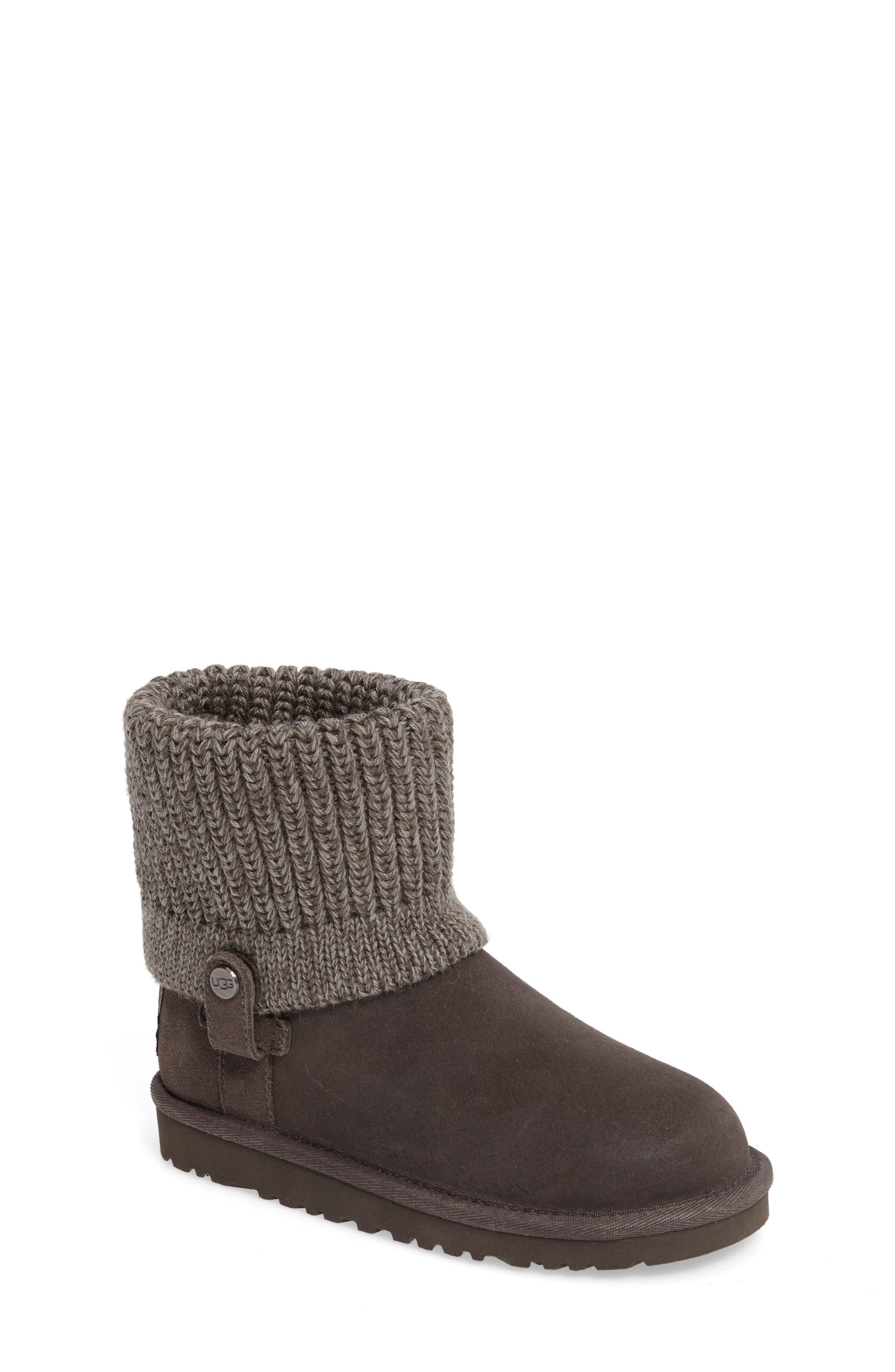 UGG<sup>™</sup> Saela Knit Cuff Boot,                             Main thumbnail 1, color,                             024