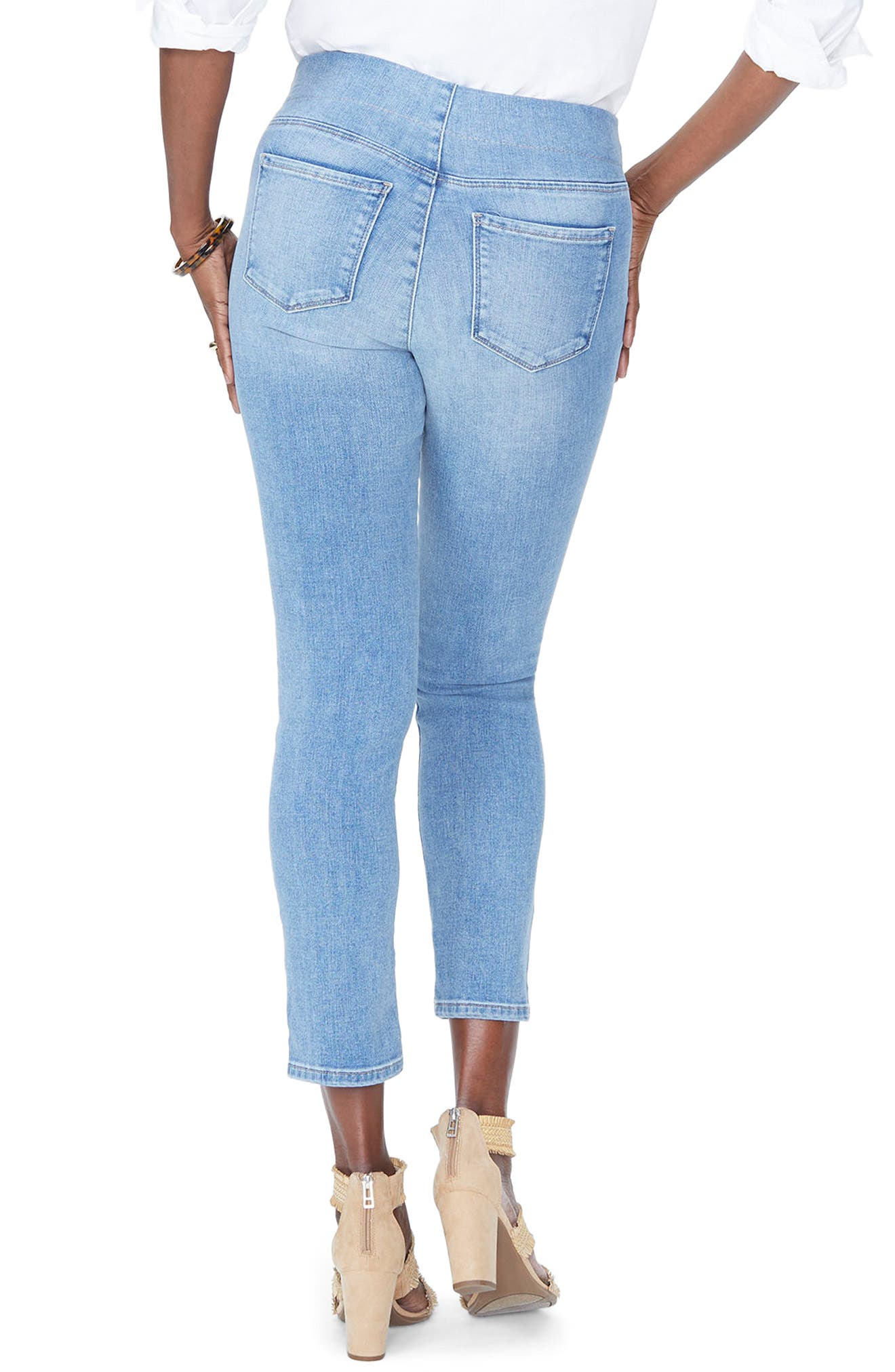 Alina High Waist  Pull-On Ankle Skinny Jeans,                             Alternate thumbnail 2, color,                             CLEAN DREAM STATE
