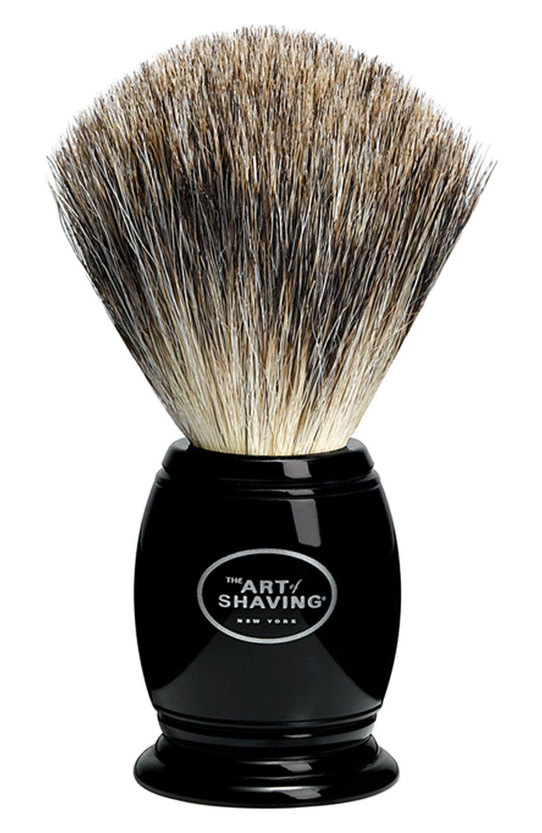 THE ART OF SHAVING  Pure Badger Shaving Brush, Main, color, 000