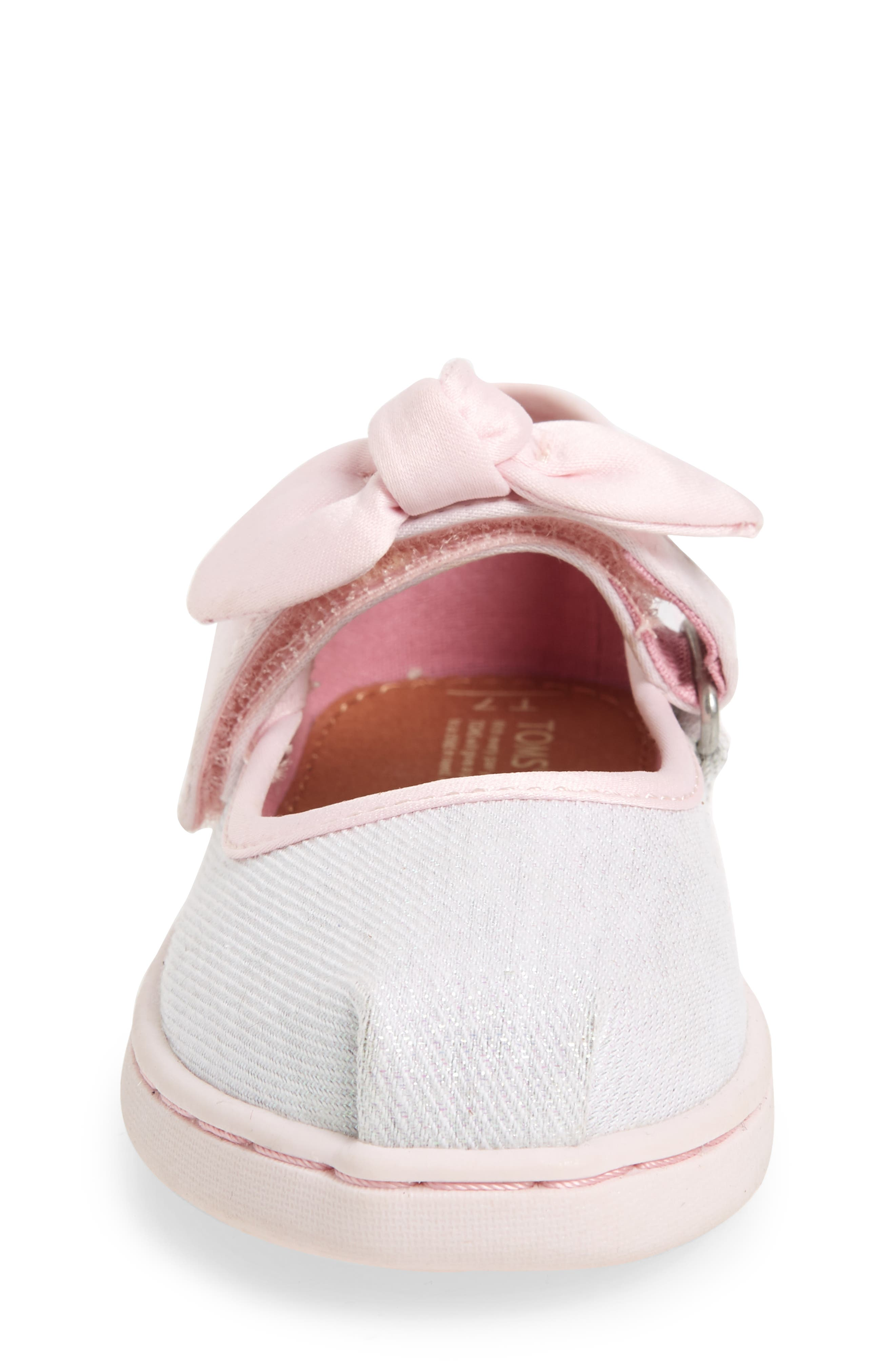 Bow Metallic Mary Jane Sneaker,                             Alternate thumbnail 4, color,                             IRIDESCENT TWILL GLIMMER