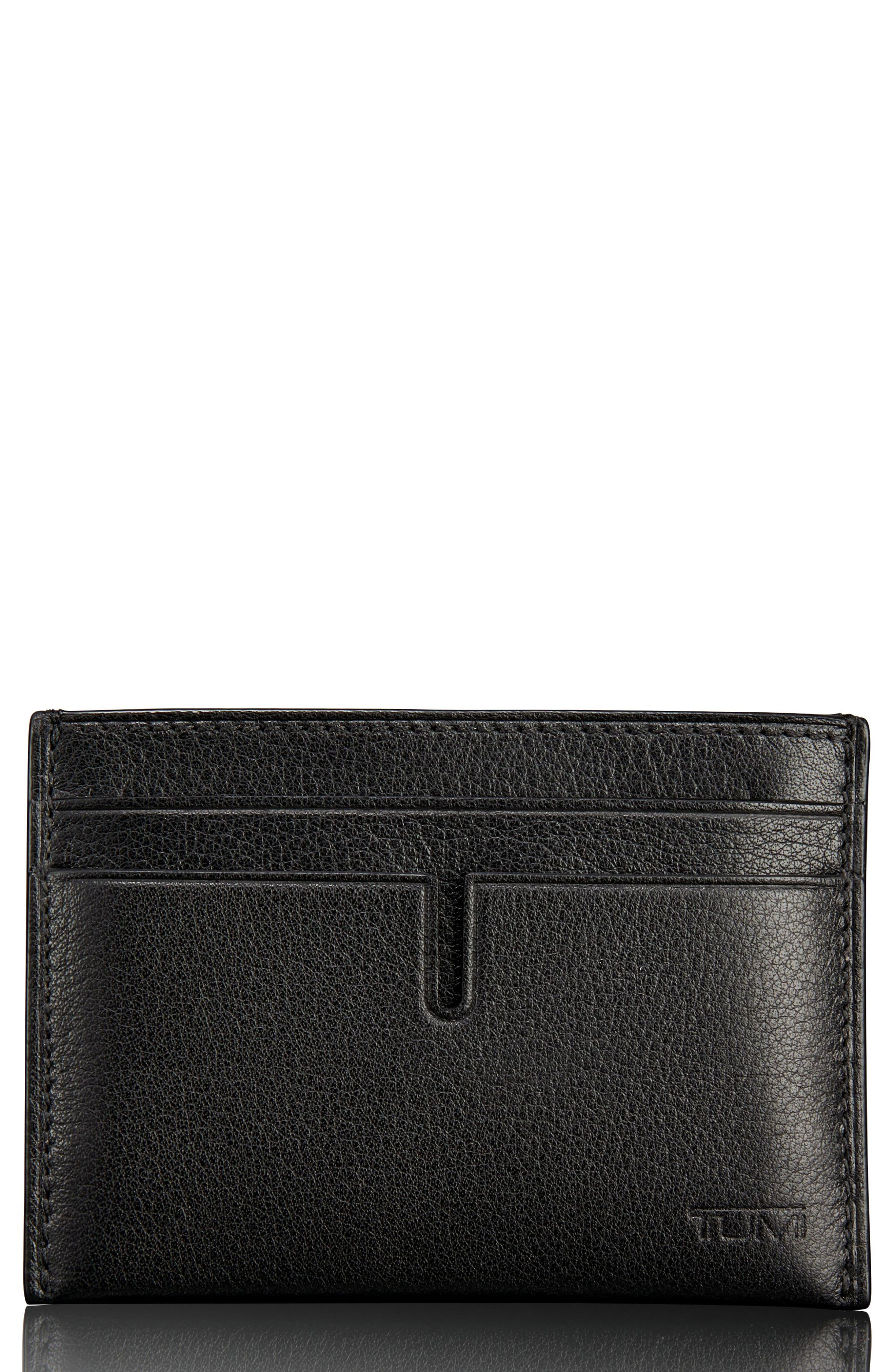 Leather Card Case,                         Main,                         color, 011