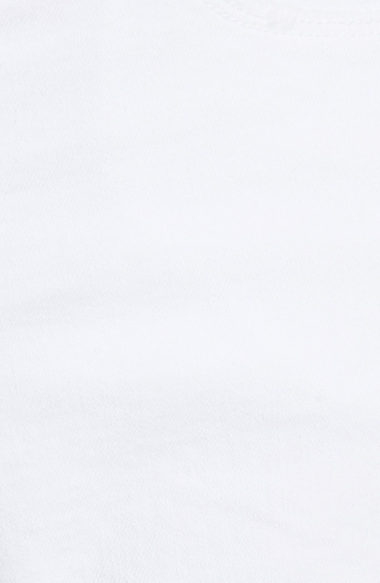 Le Cutoff Cuffed Jean Shorts,                             Alternate thumbnail 6, color,                             BLANC ROOKLEY