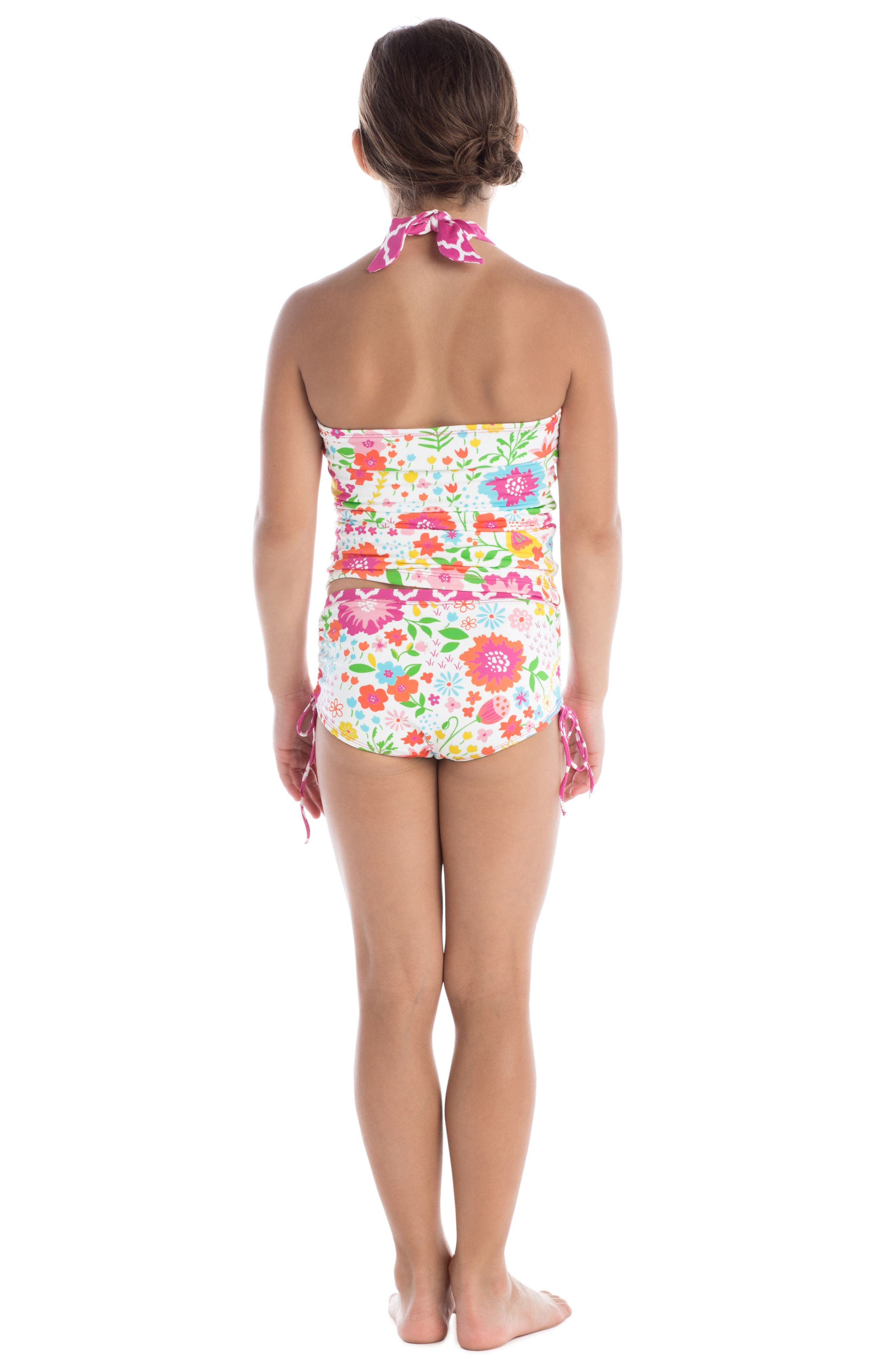English Garden Two-Piece Tankini Swimsuit,                             Alternate thumbnail 3, color,                             100