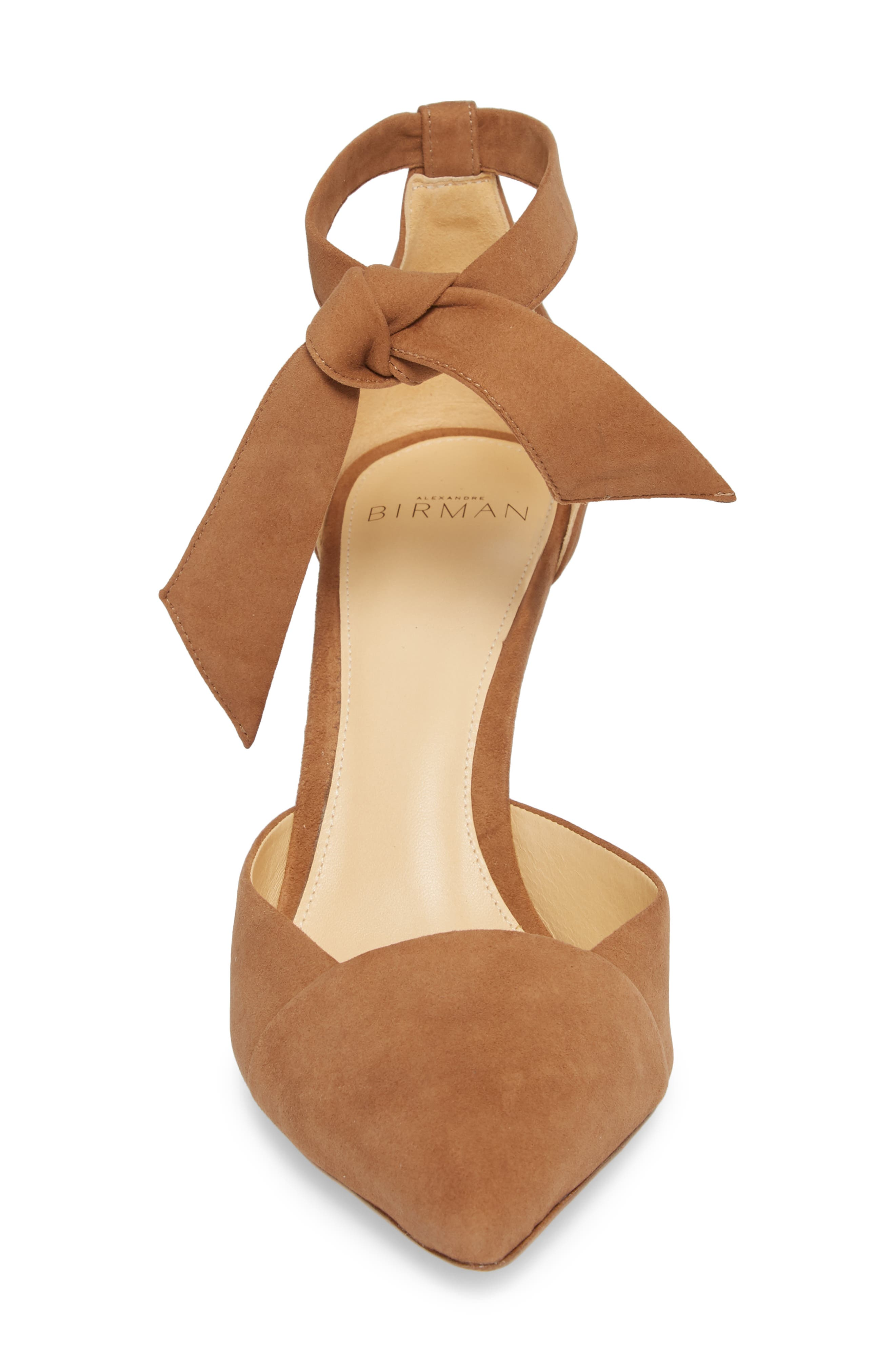 Azalea Tie Strap Pump,                             Alternate thumbnail 4, color,                             LIGHT BEIGE