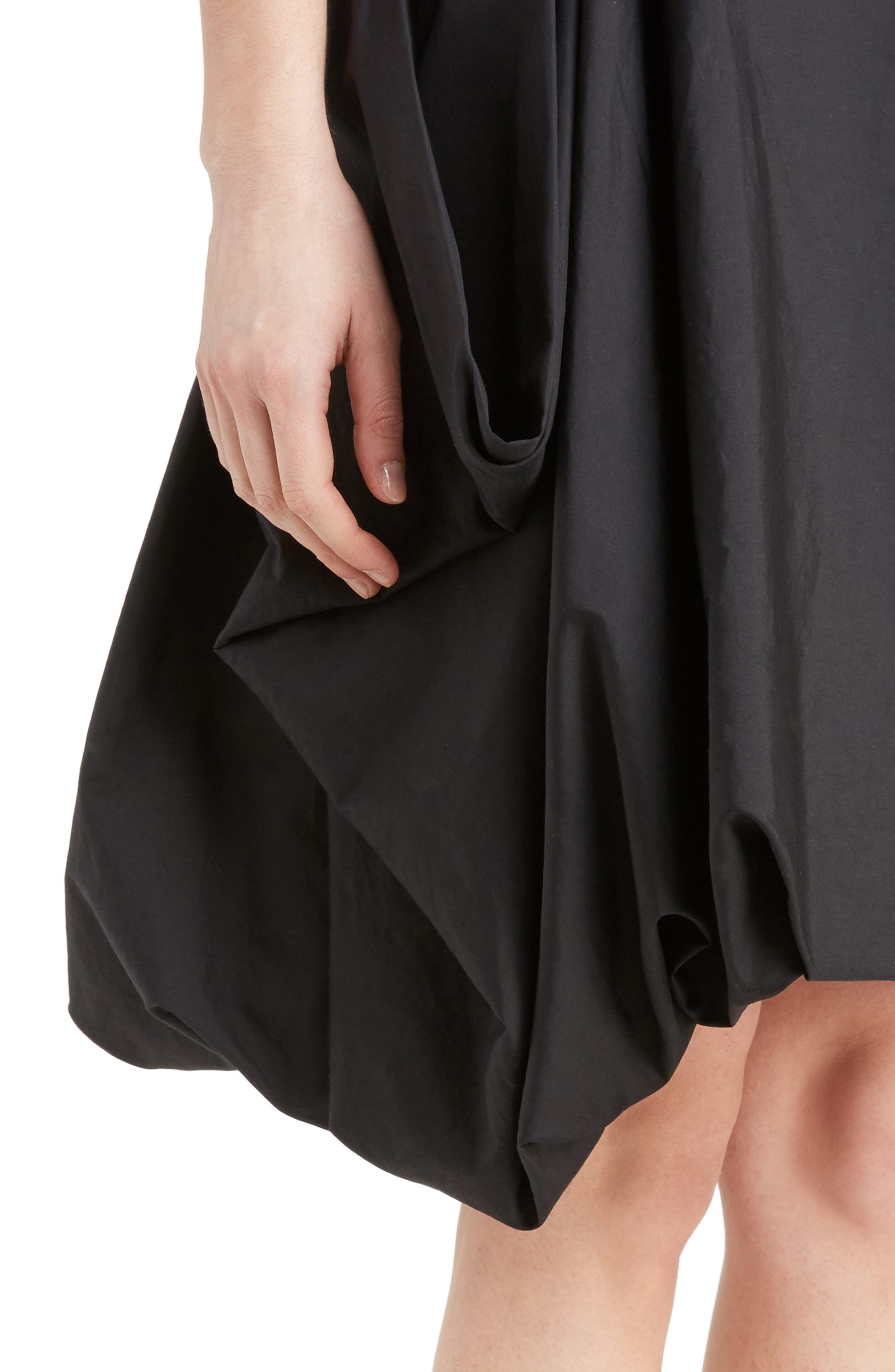 J.W.ANDERSON Drape Pockets Pleated Skirt,                             Alternate thumbnail 4, color,                             001