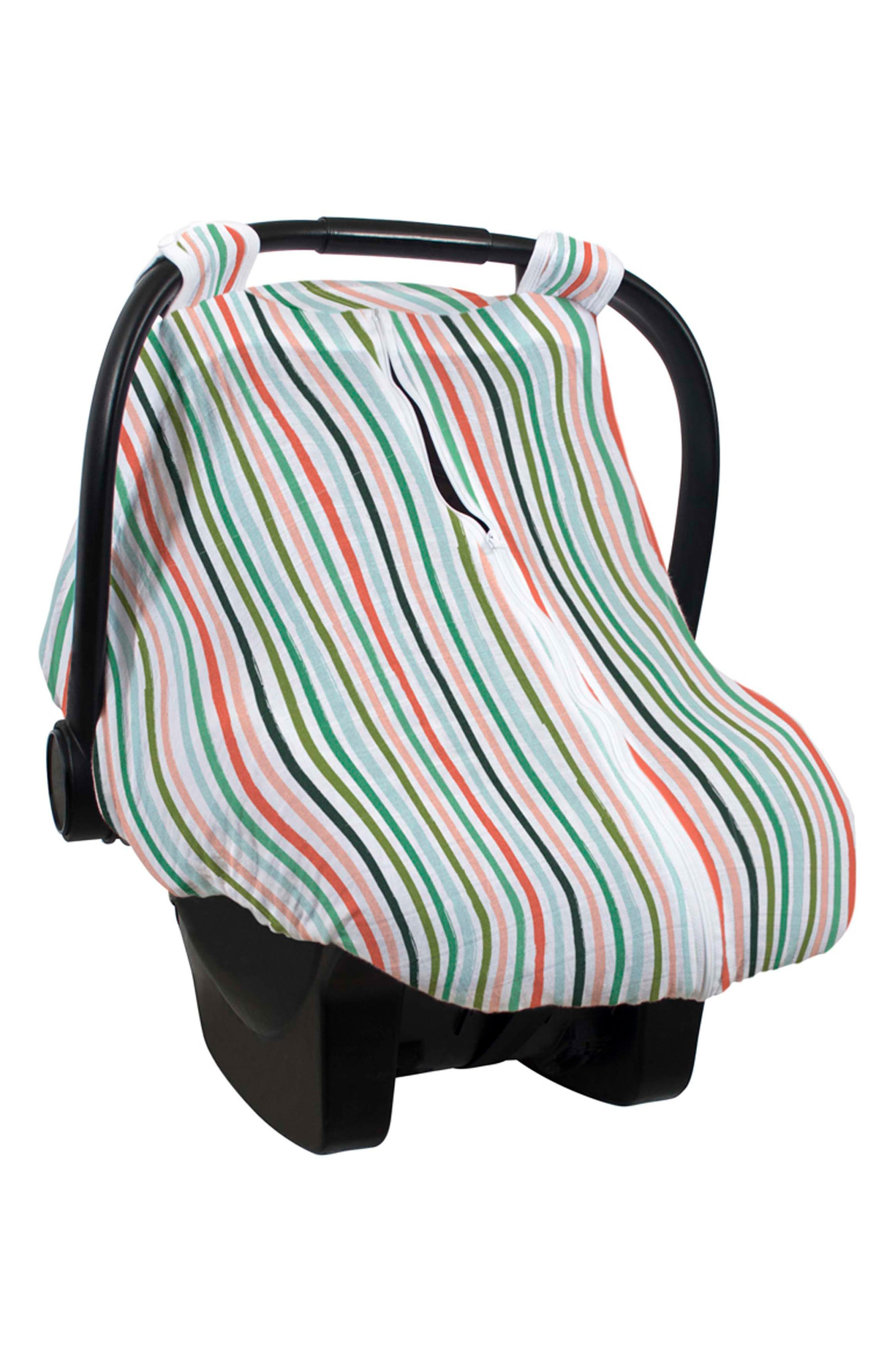 Muslin Car Seat Cover,                             Main thumbnail 1, color,                             RIBBON