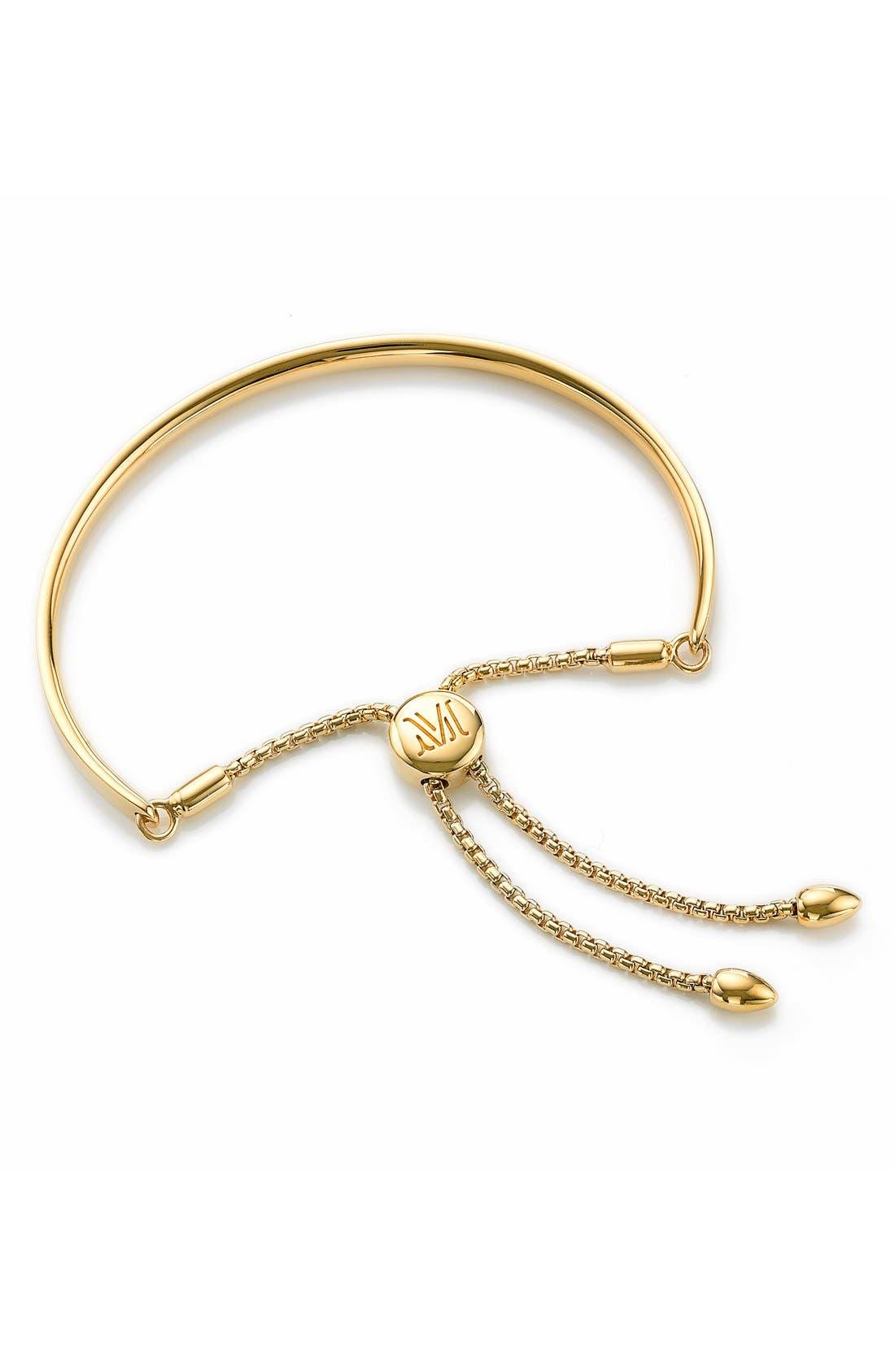 EngravableFiji Chain Bracelet,                             Main thumbnail 1, color,                             YELLOW GOLD