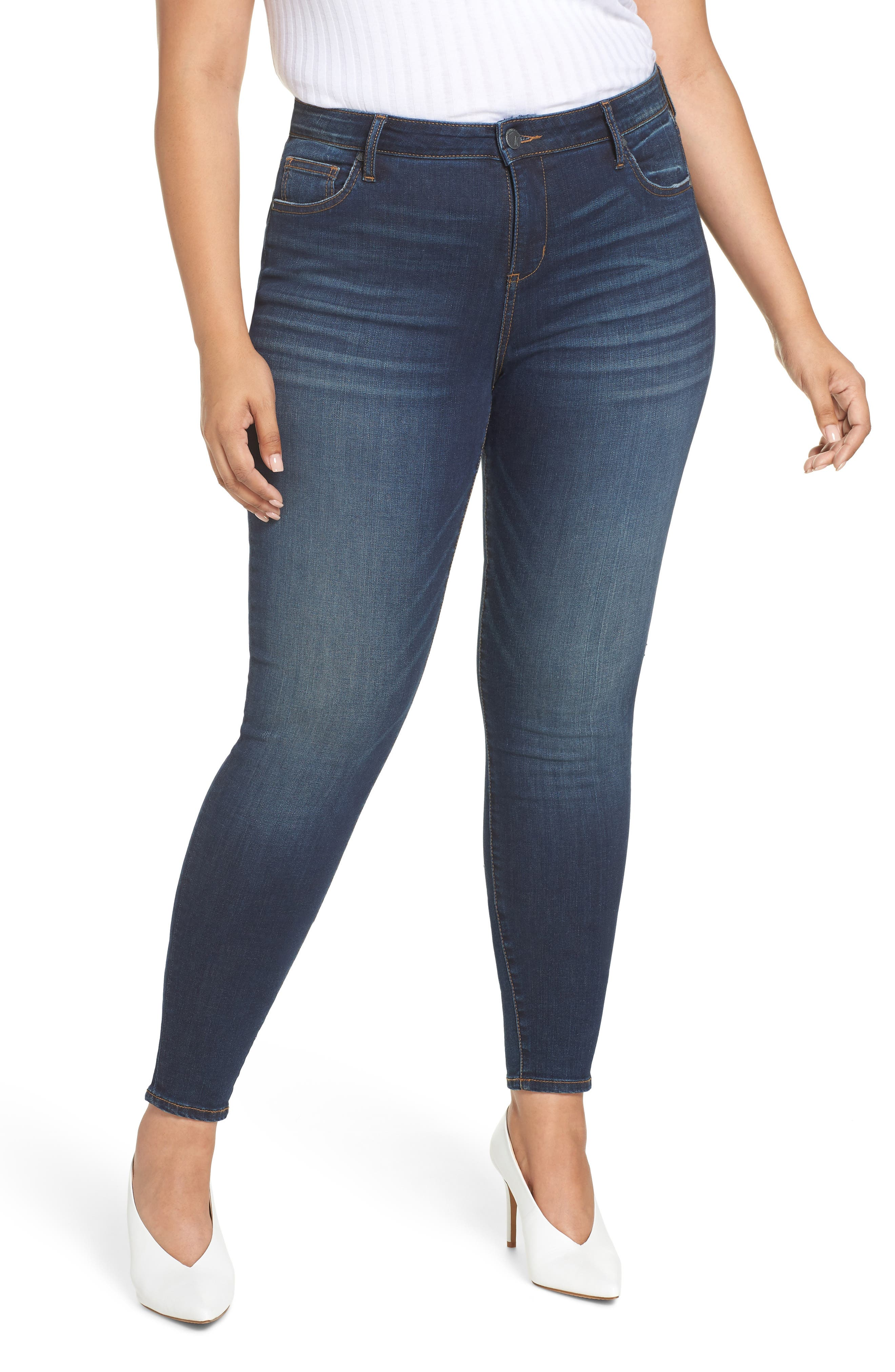 Plus Size Kut From The Kloth Mia High Waist Skinny Jeans, Blue