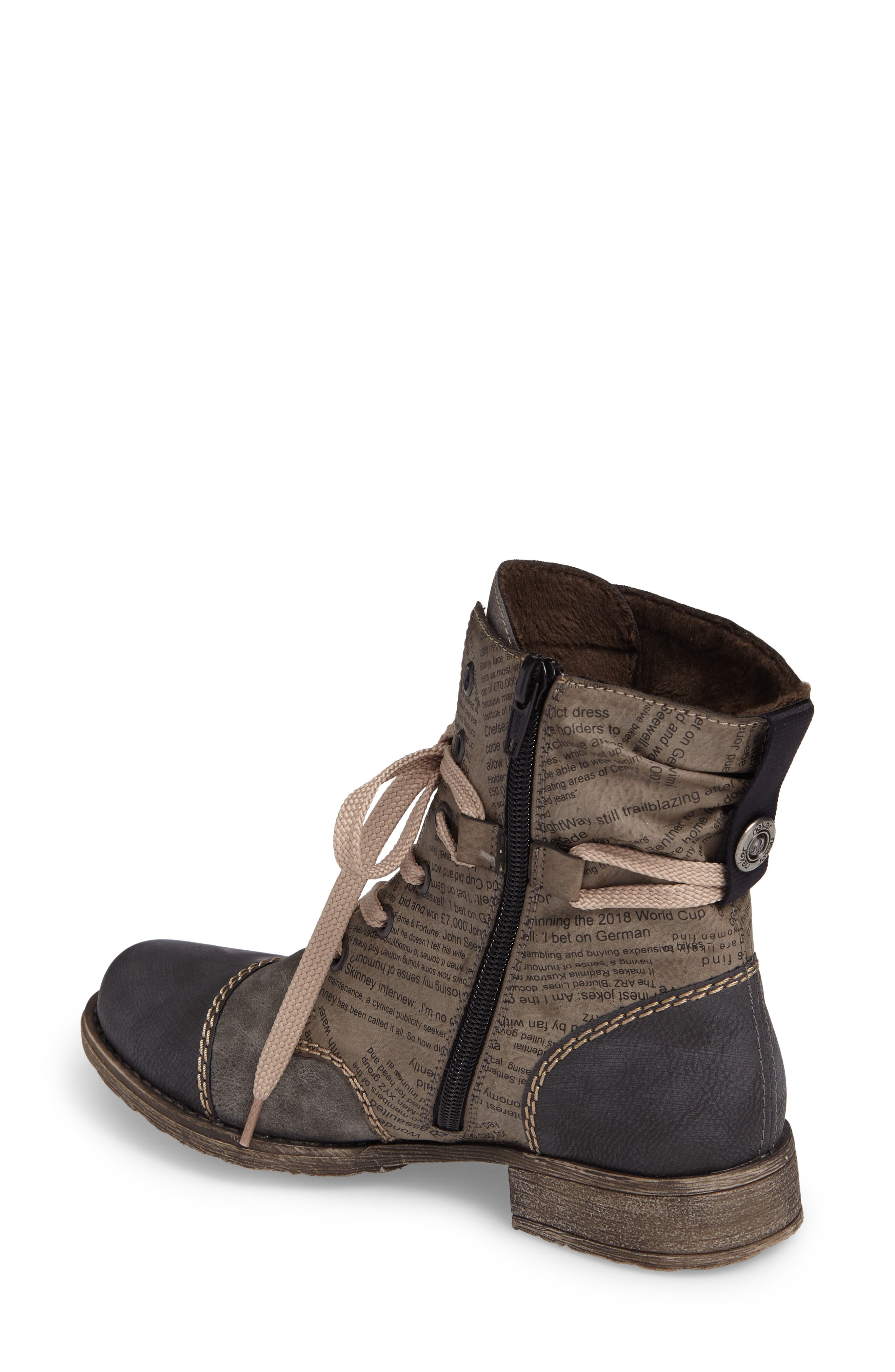 Payton 22 Lace-Up Boot,                             Alternate thumbnail 2, color,                             SMOKE FAUX LEATHER