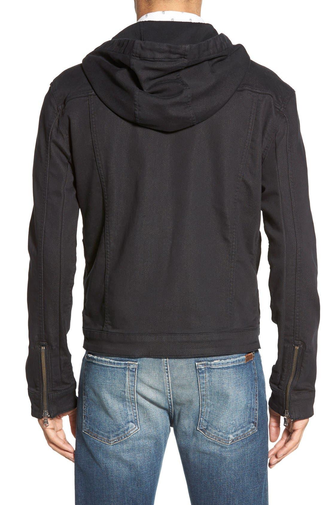 Hooded Denim Jacket,                             Alternate thumbnail 5, color,