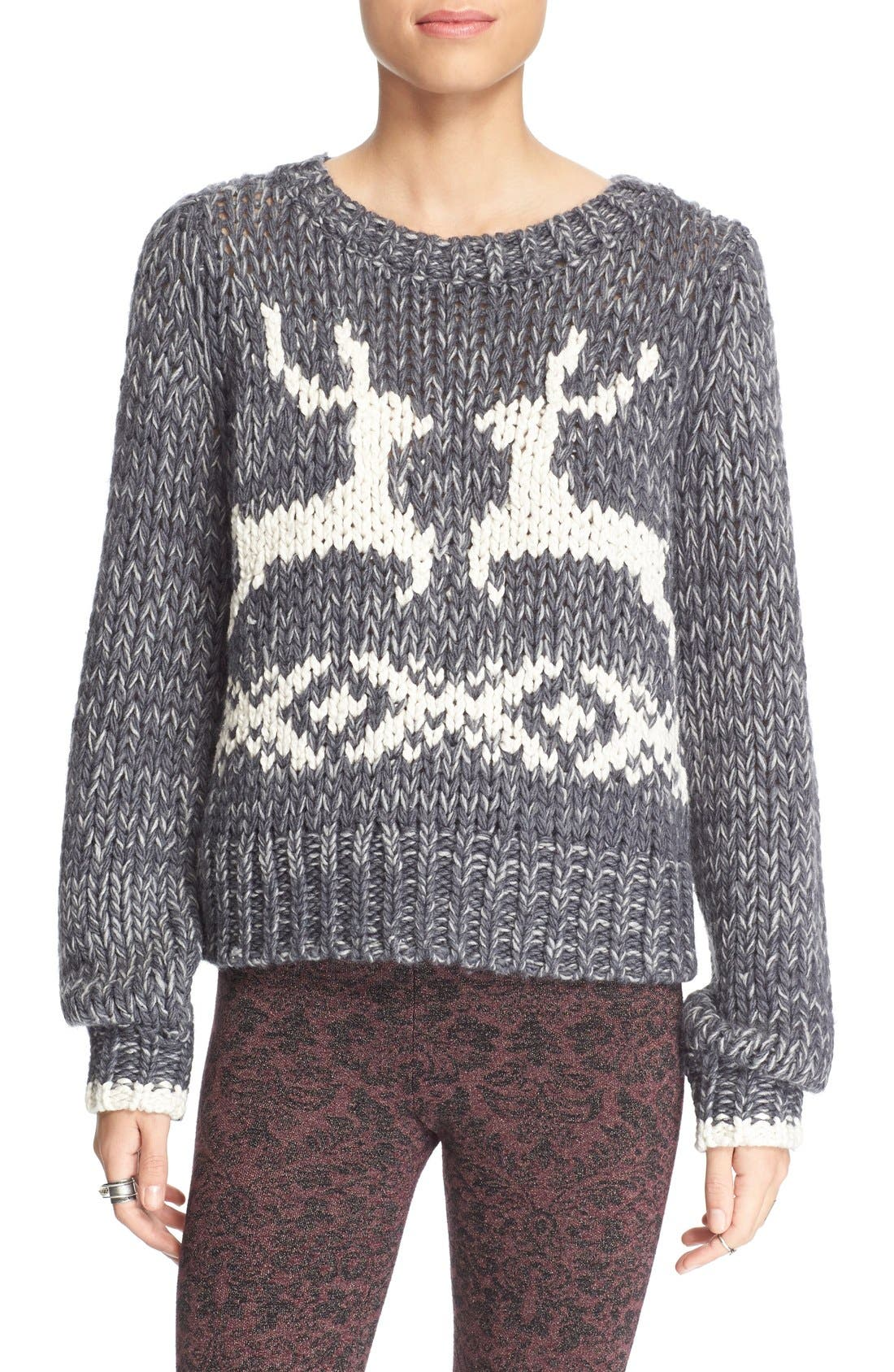 'Dancer and Prancer' Sweater,                             Main thumbnail 1, color,                             020