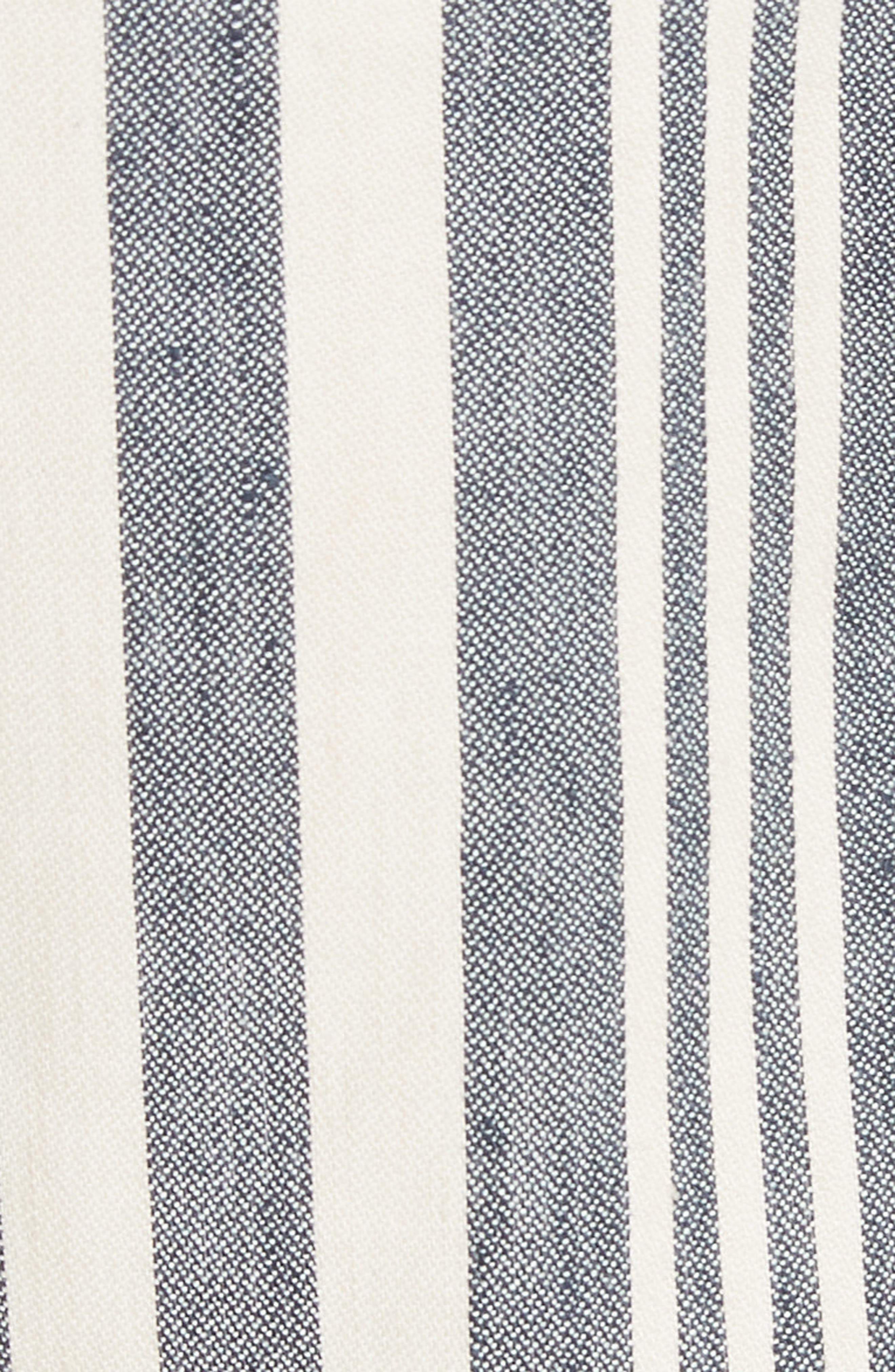 Carito Stripe Linen & Cotton Shorts,                             Alternate thumbnail 5, color,                             413