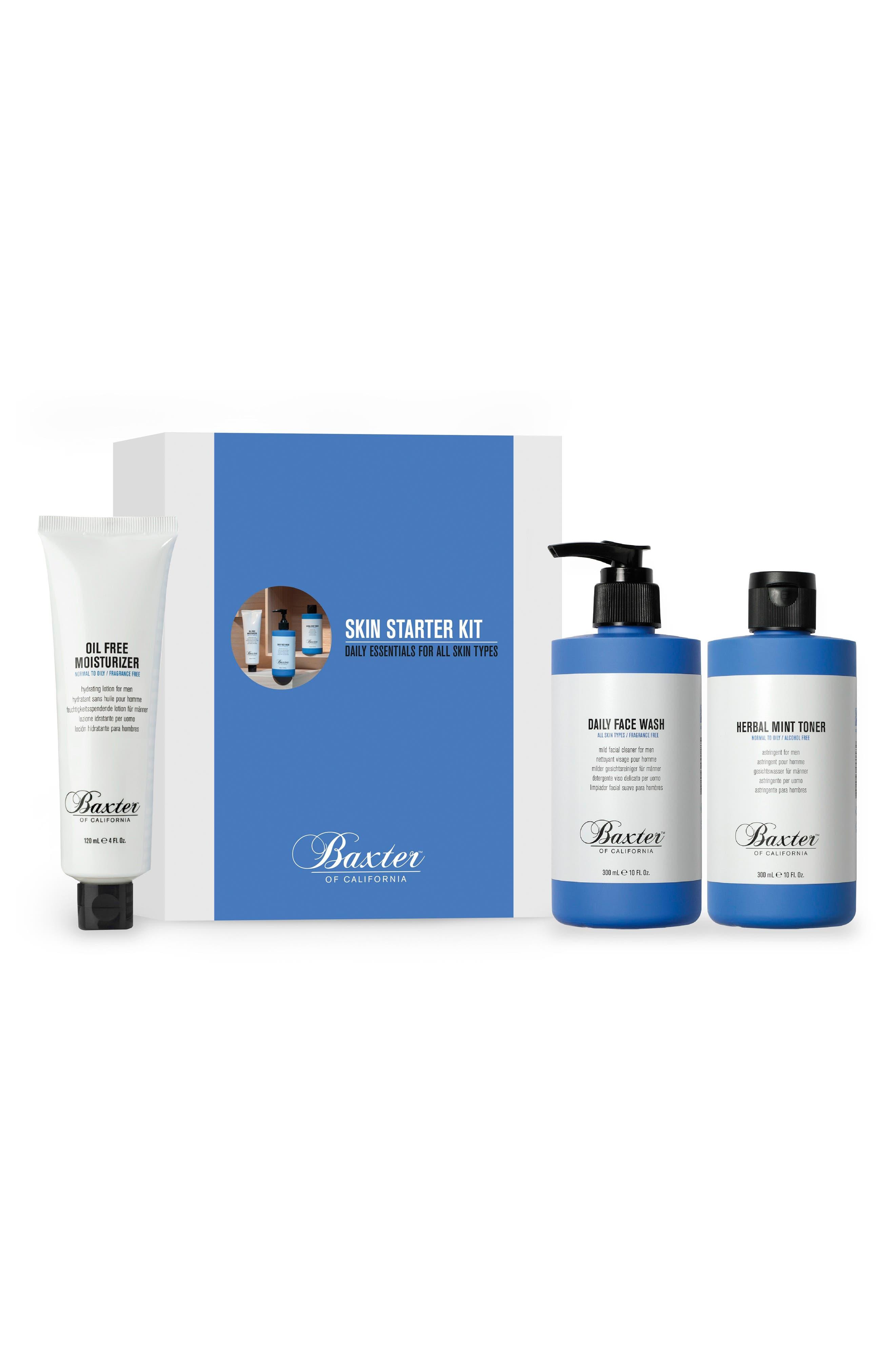 Skin Care Starter Kit,                             Main thumbnail 1, color,                             000