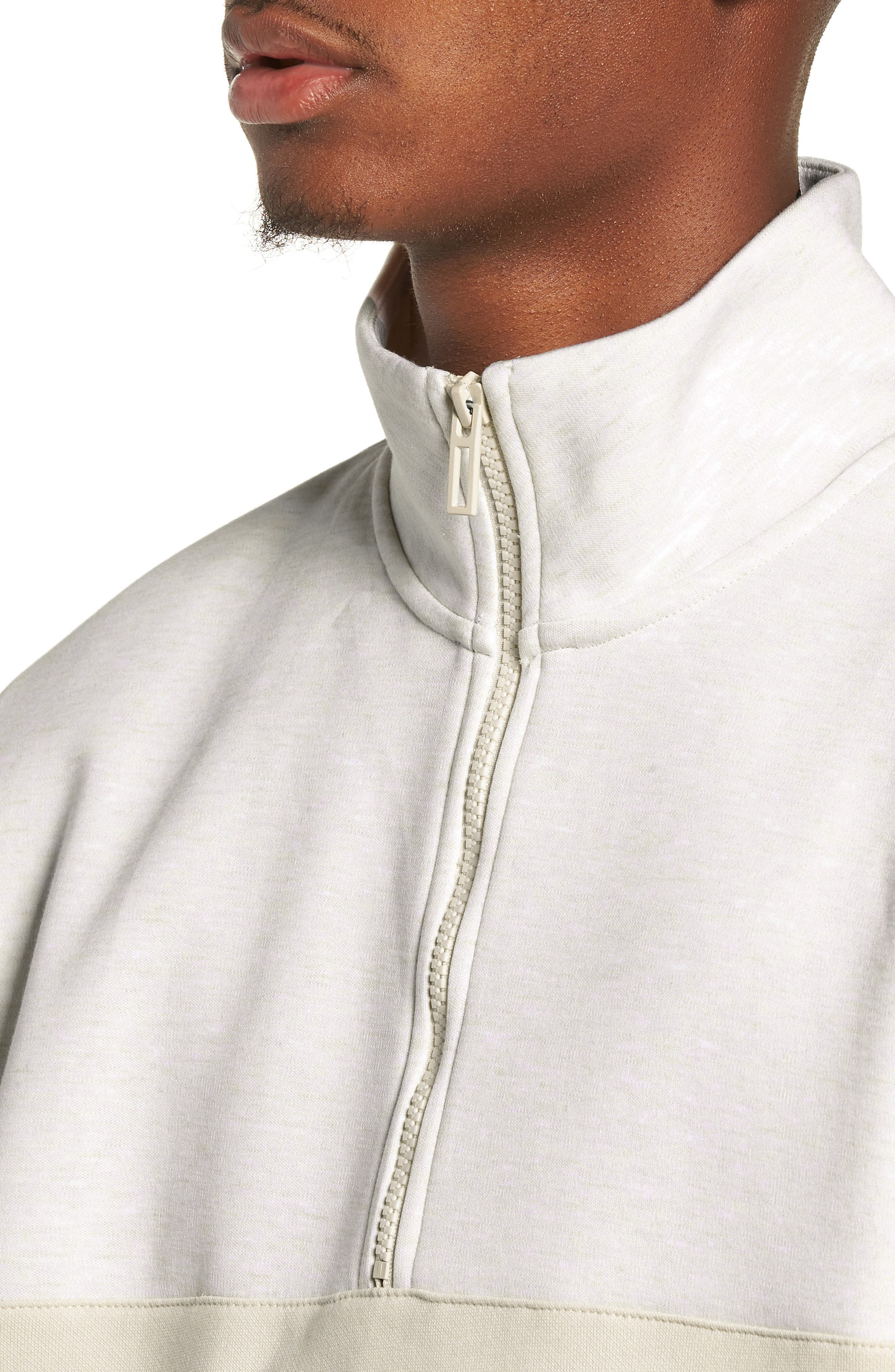 x Big Sean Half Zip Jacket,                             Alternate thumbnail 4, color,                             BIRCH