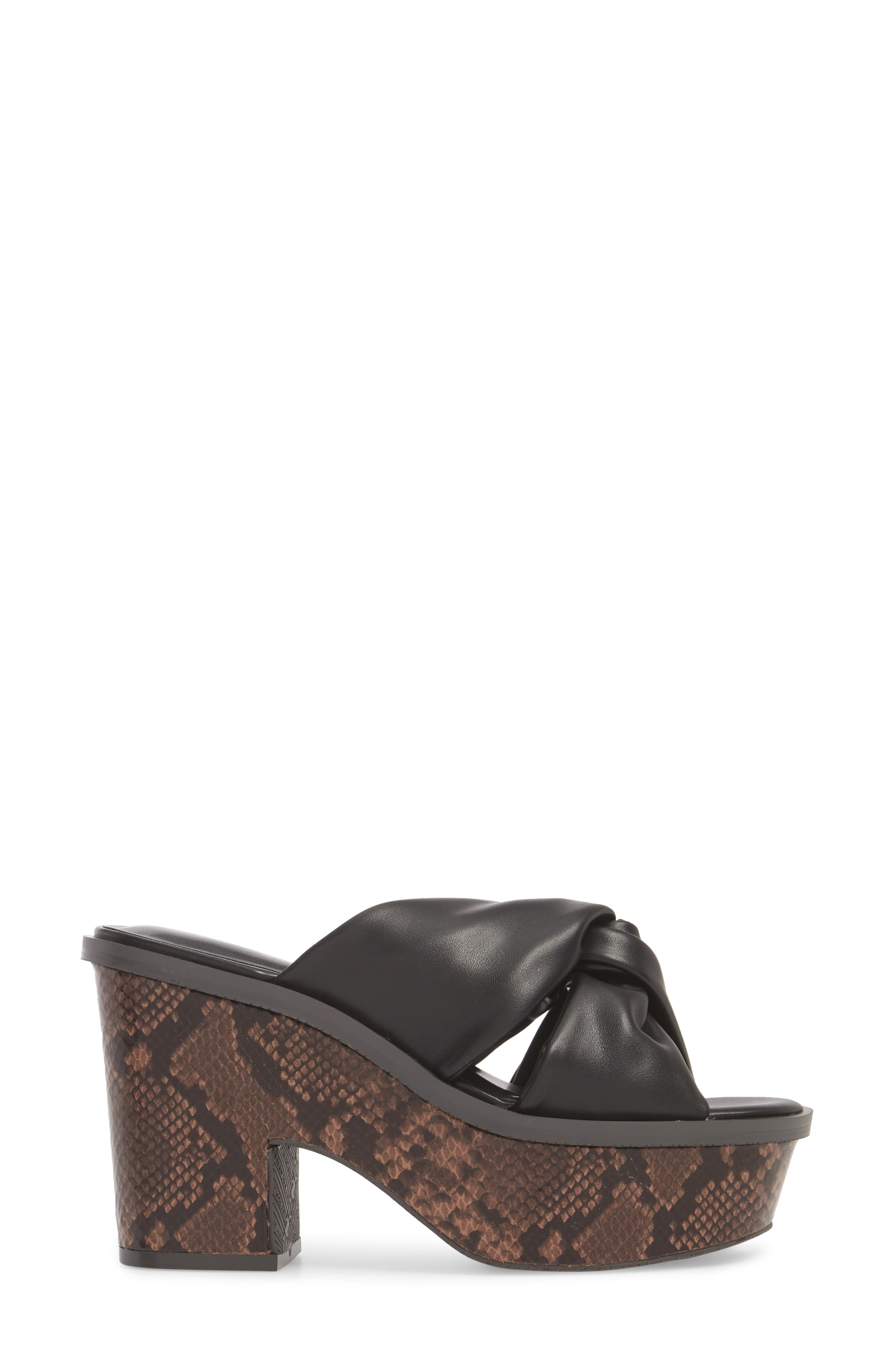 Ainsley Platform Sandal,                             Alternate thumbnail 3, color,                             BLACK