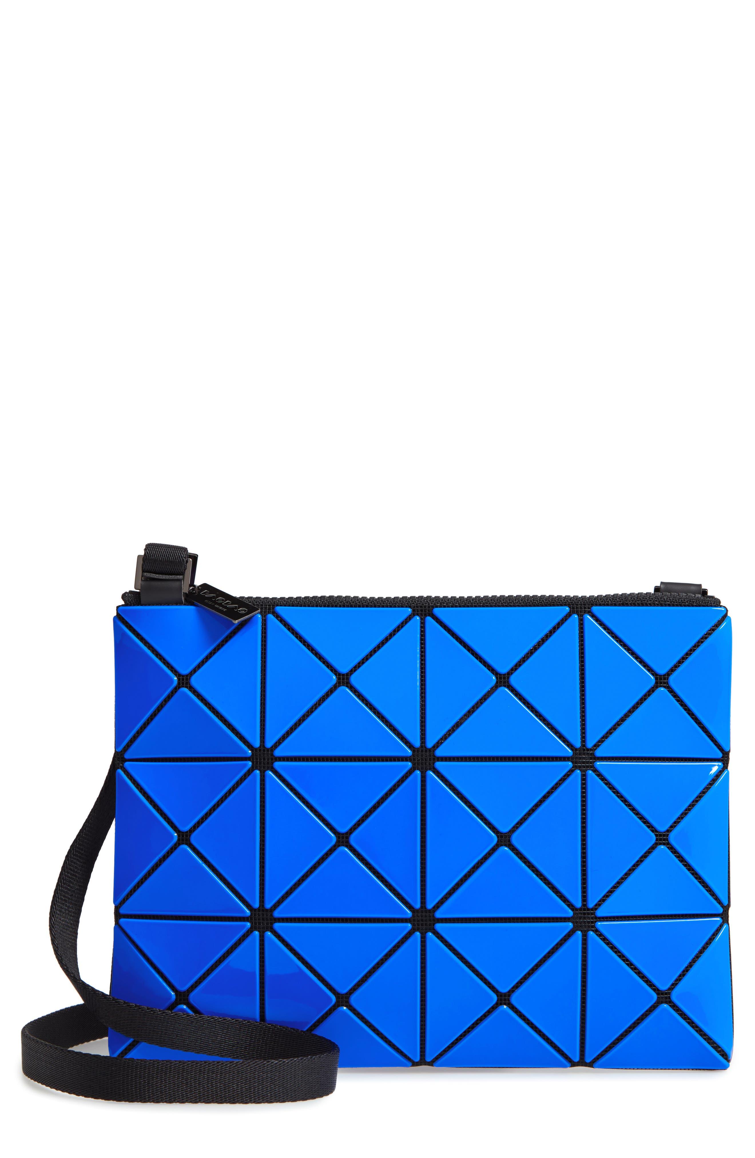 Lucent Two-Tone Crossbody Bag,                             Main thumbnail 1, color,                             BLUE/ DARK BLUE