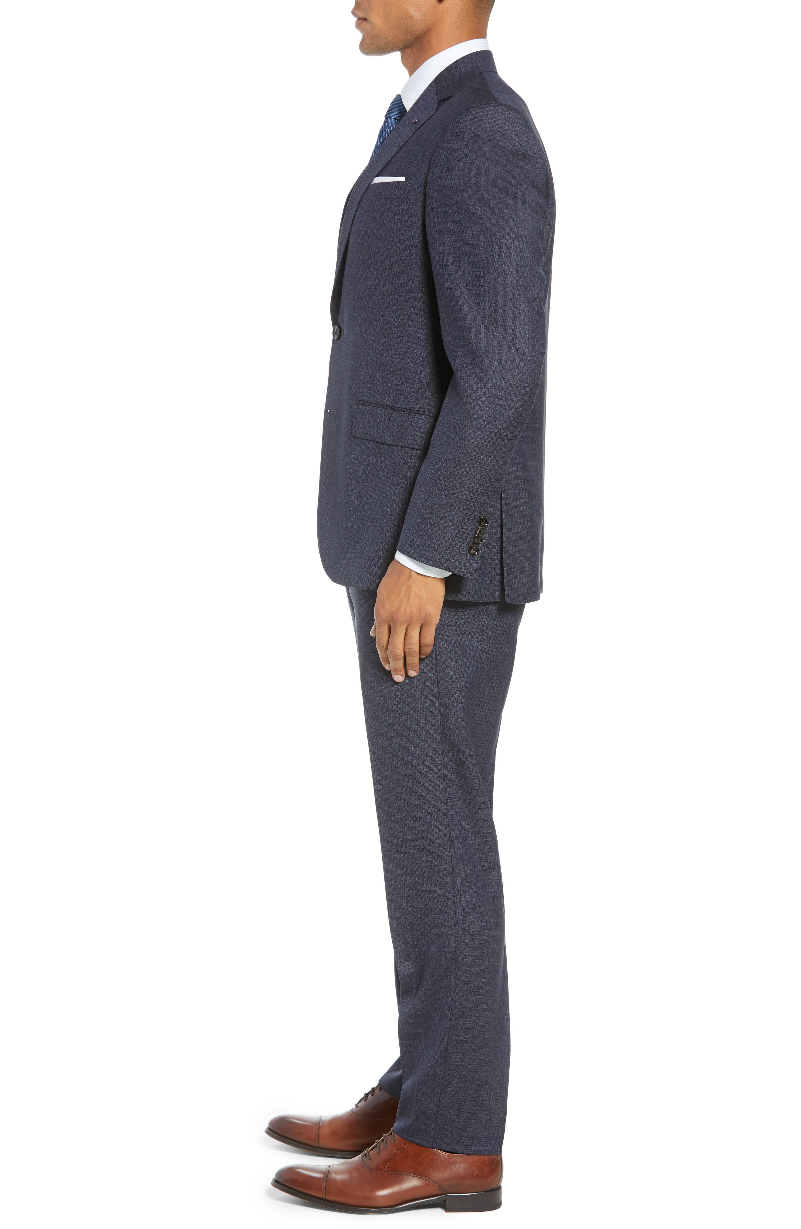 Jay Trim Fit Solid Wool Suit,                             Alternate thumbnail 3, color,                             020