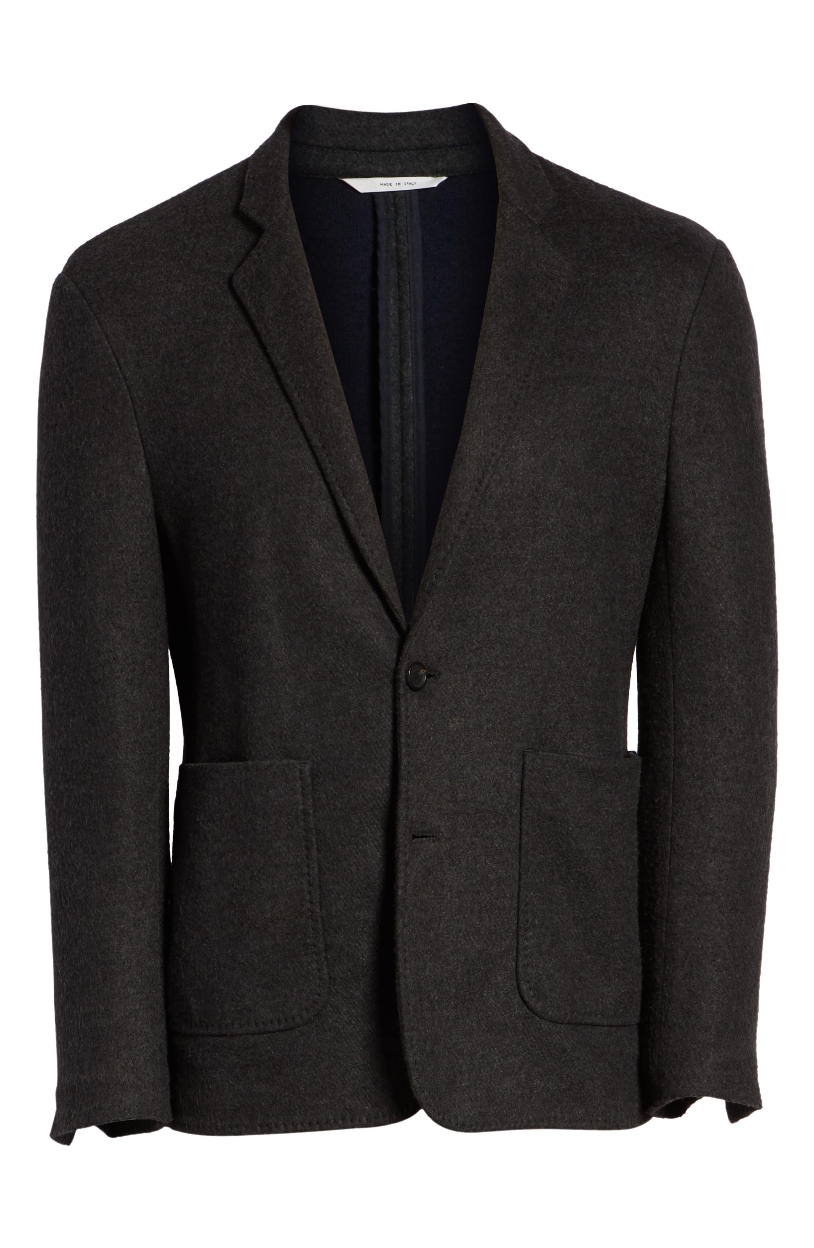 Dylan Regular Fit Sport Coat,                             Alternate thumbnail 5, color,                             CHARCOAL