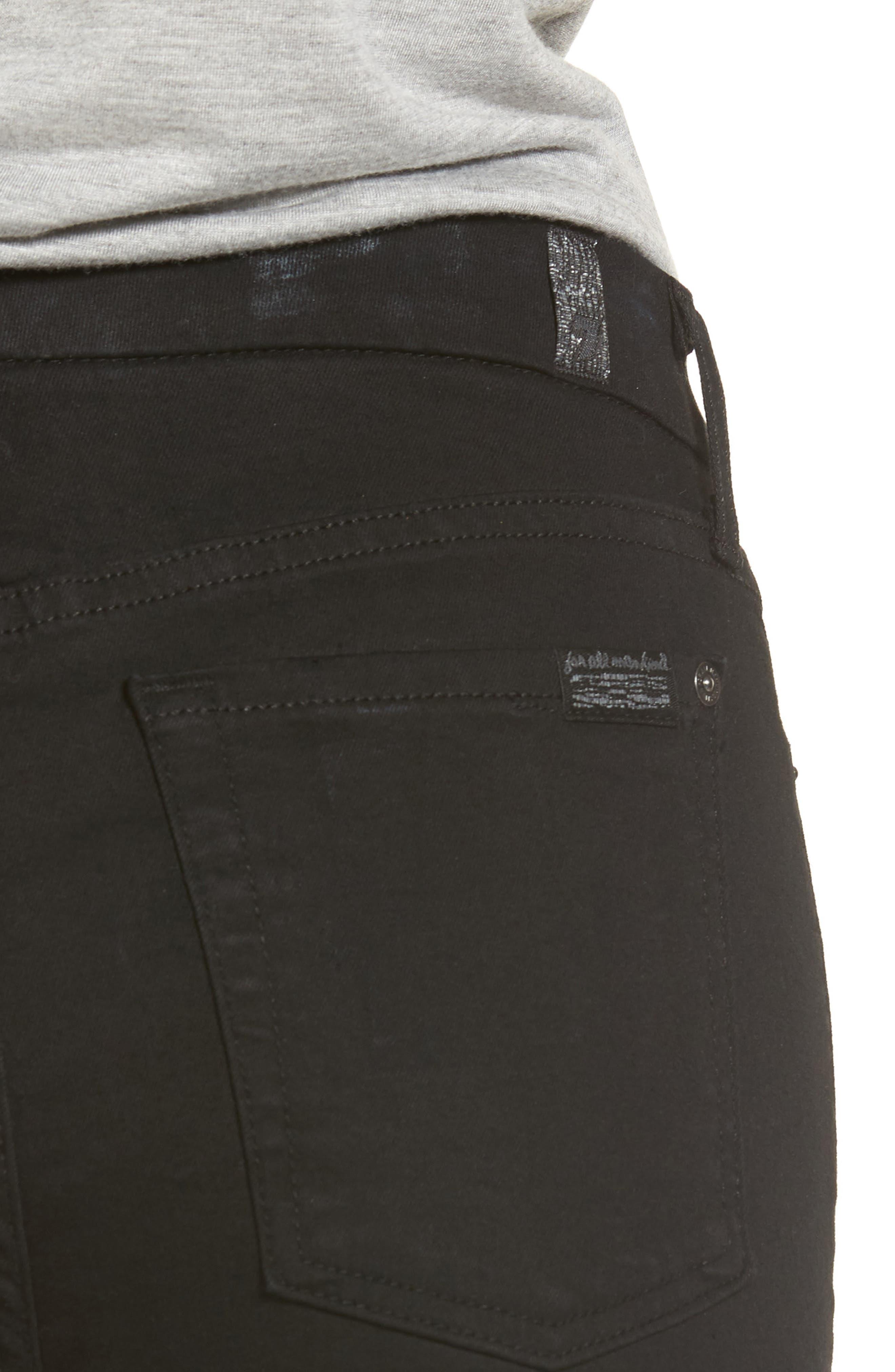 b(air) Ankle Skinny Jeans,                             Alternate thumbnail 4, color,                             BAIR BLACK 3