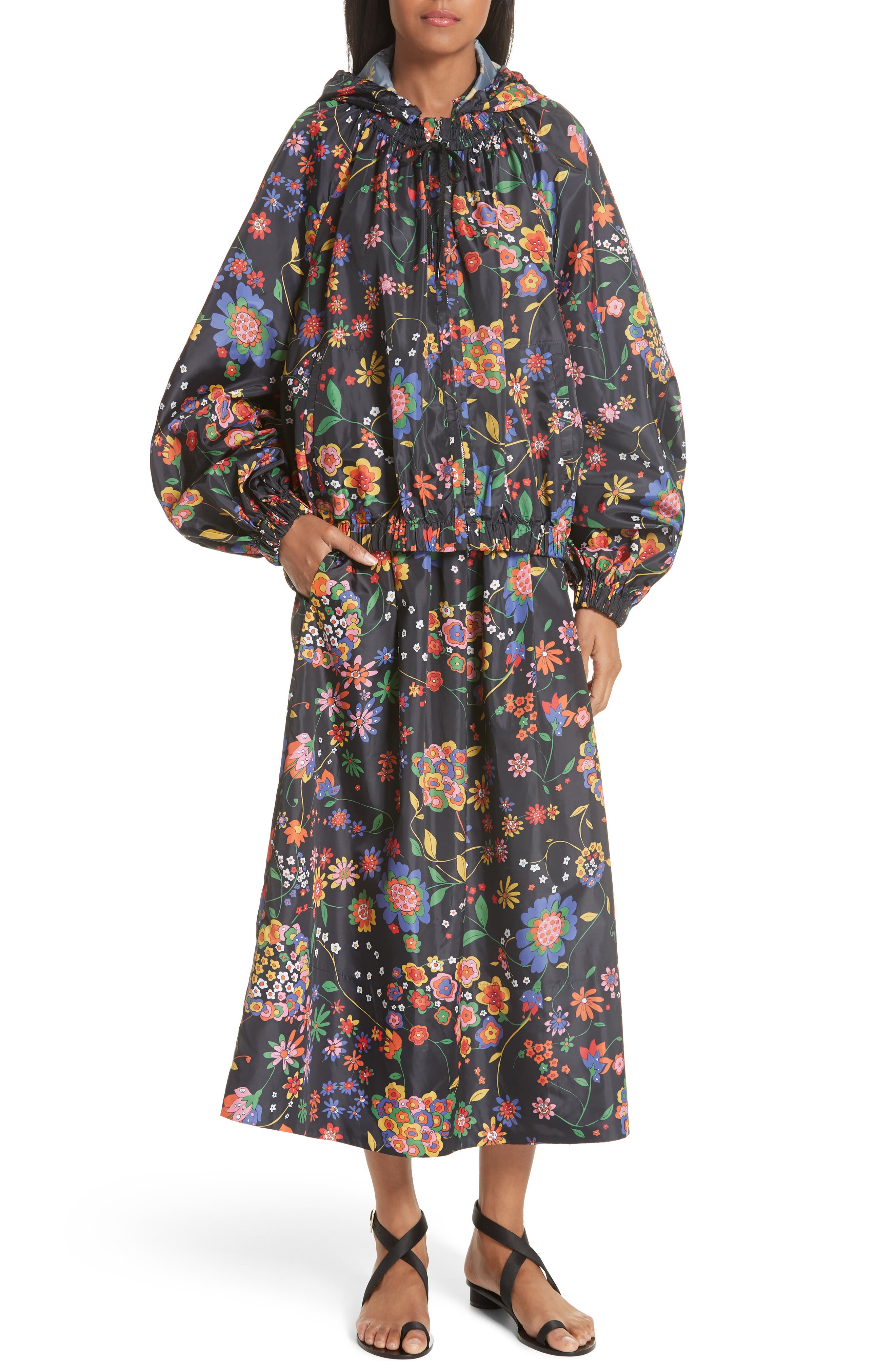 Print Tech Floral Skirt,                             Alternate thumbnail 7, color,                             402