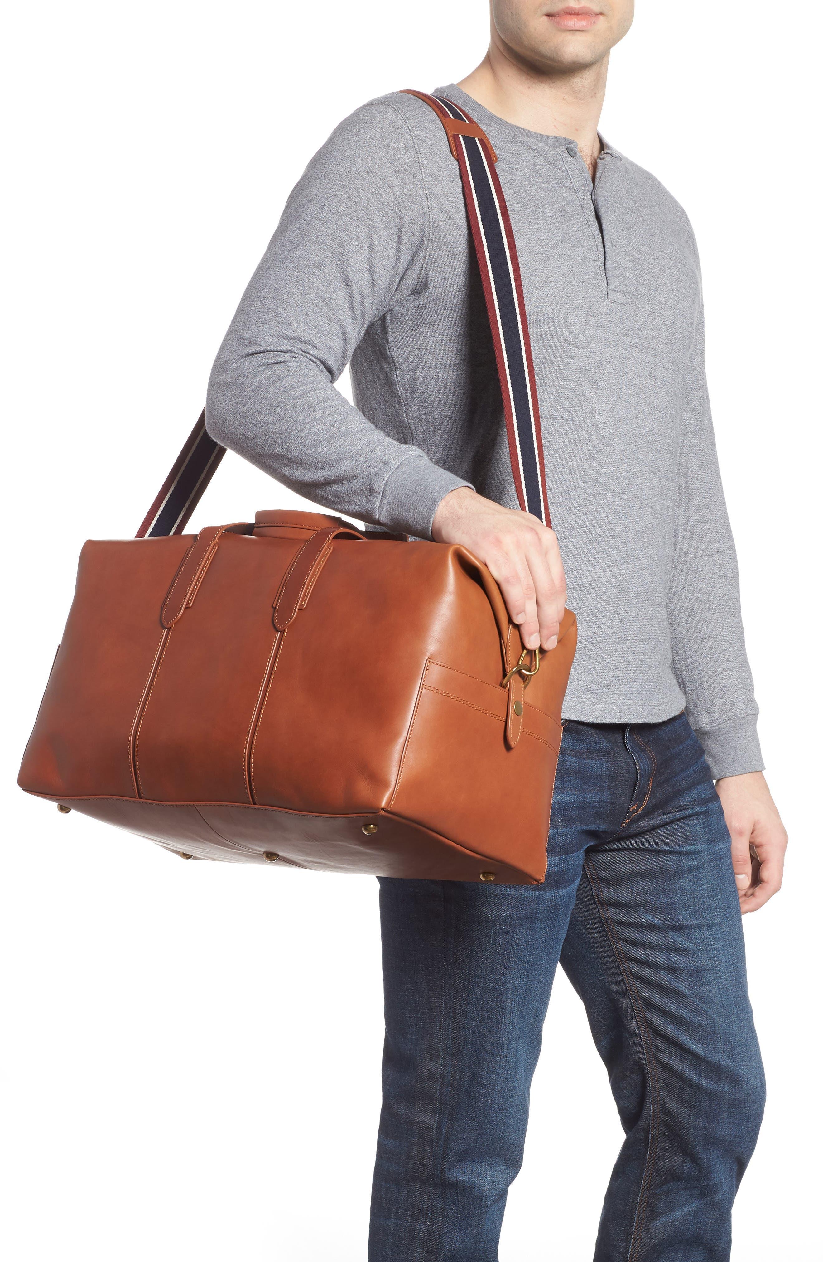 Oar Stripe Weekend Bag,                             Alternate thumbnail 2, color,                             BURNISHED SIENNA