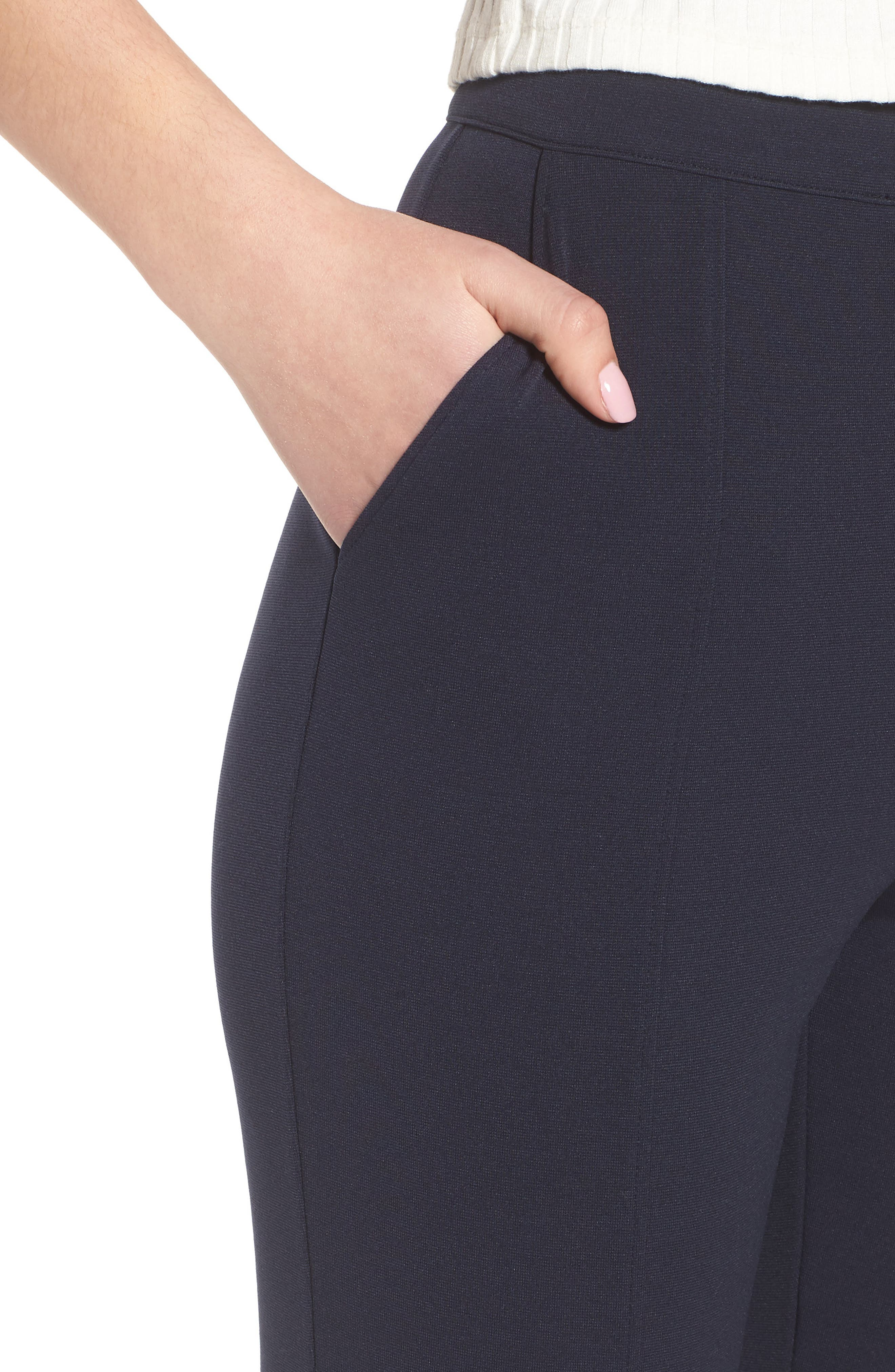High Waist Crop Flare Pants,                             Alternate thumbnail 4, color,                             410