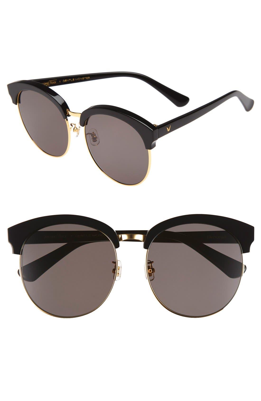 'Deborah' 60mm Oversize Sunglasses, Main, color, 001