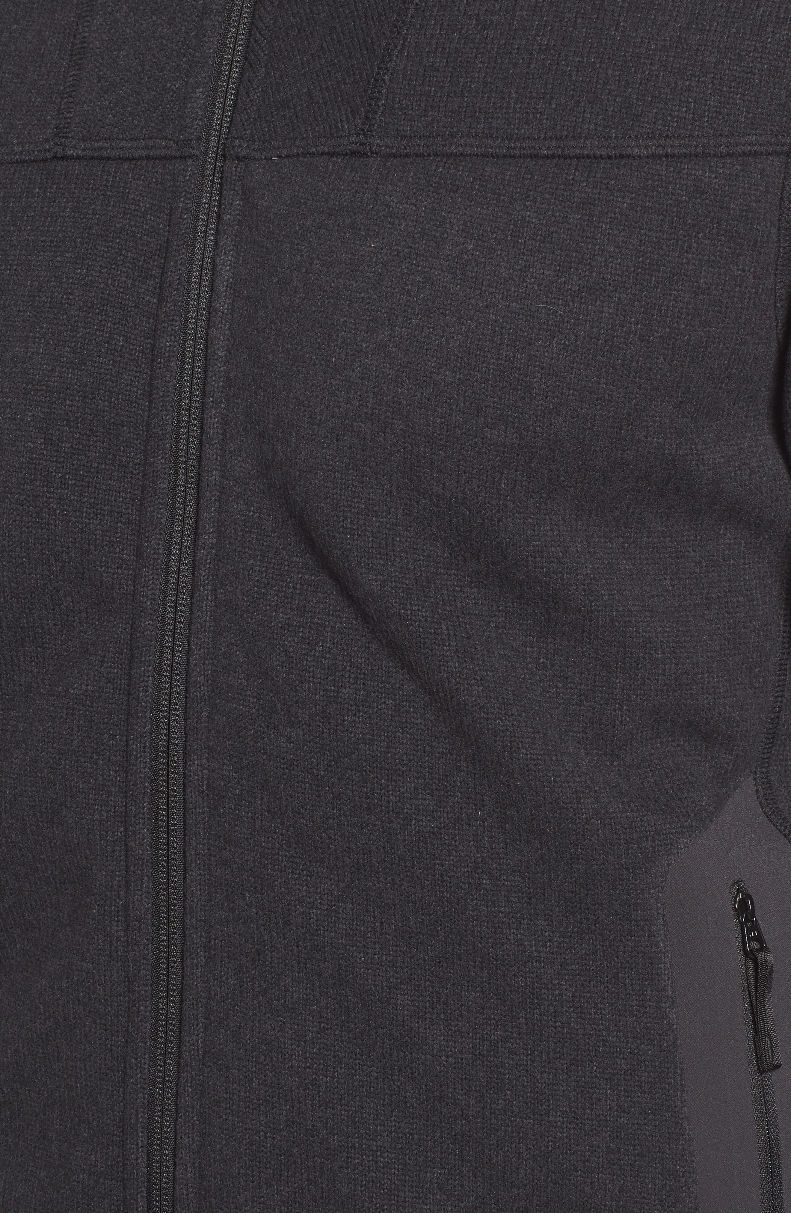 'Covert' Relaxed Fit Technical Fleece Zip Jacket,                             Alternate thumbnail 5, color,                             BLACK HEATHER
